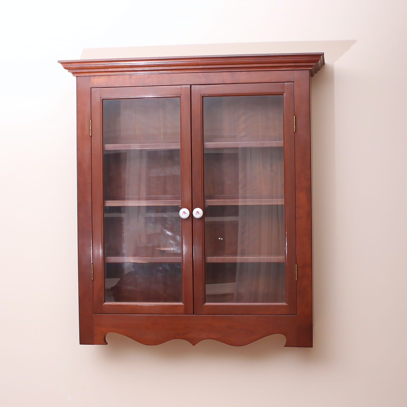 Federal Style Cherry Wall Cabinet