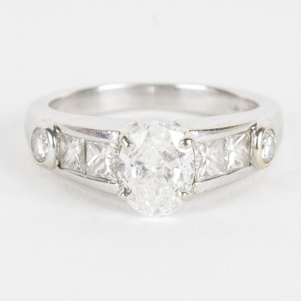 18K White Gold 1.87 CTW Diamond Ring