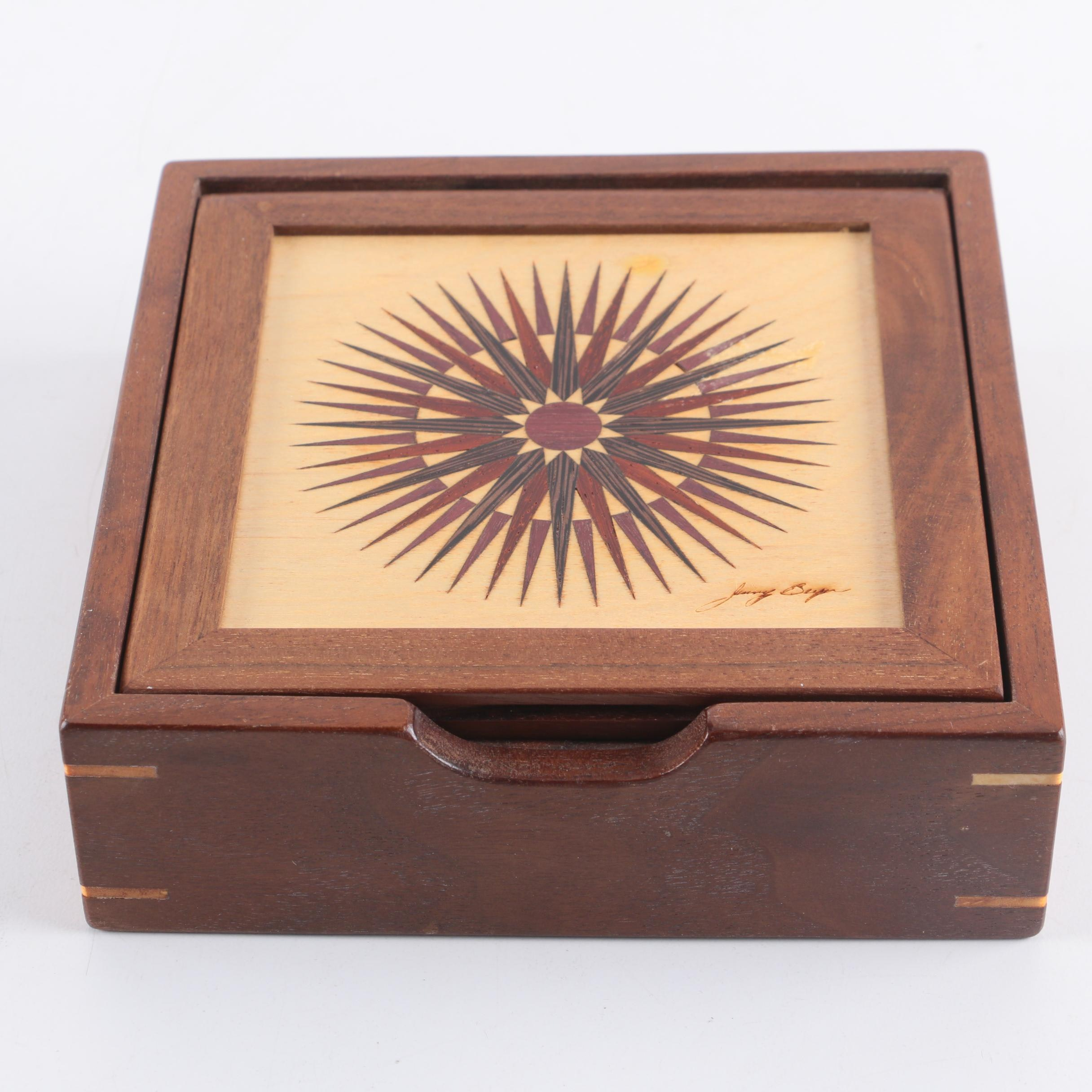 "Jinny Beyer ""Ray of Light"" Decorative Wooden Box by Gary White"