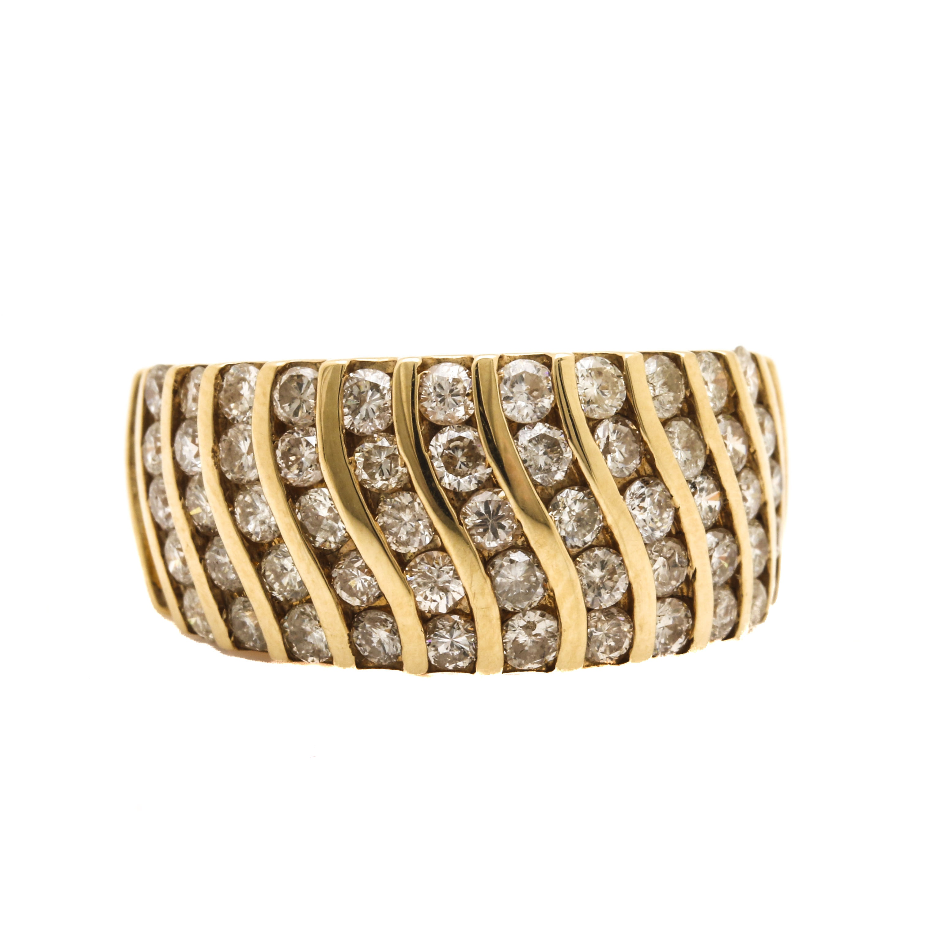 14K Yellow Gold 1.95 CTW Diamond Ring
