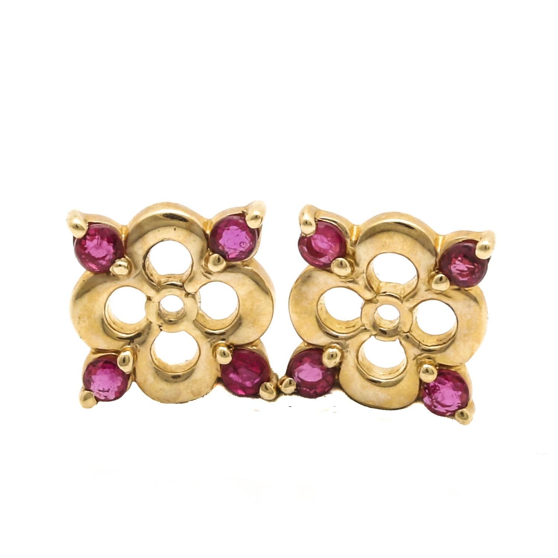 14k yellow gold ruby earring jackets ebth