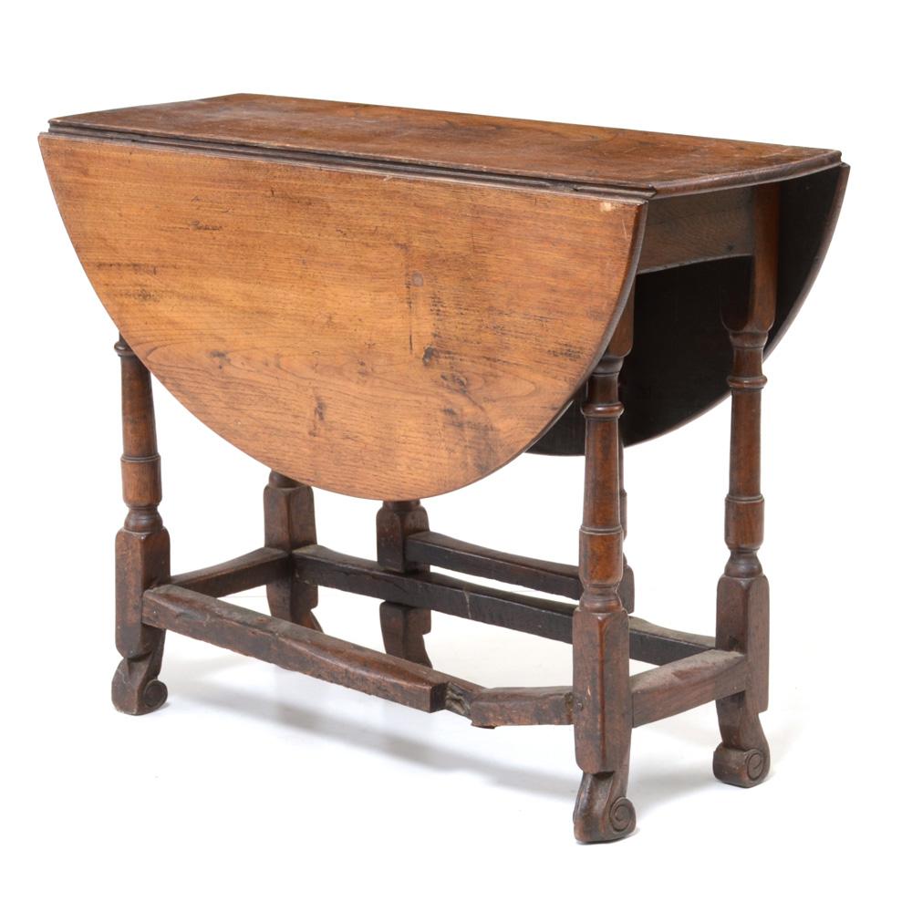 Antique Round Oak Gateleg Table EBTH