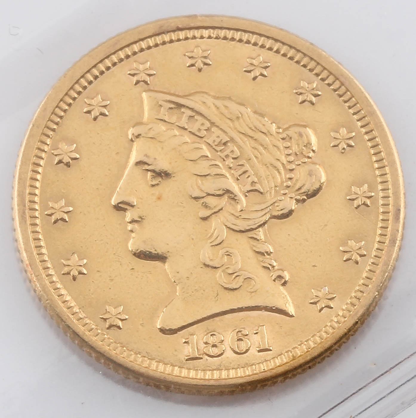 1861 Liberty Head $2 1/2 Gold Coin
