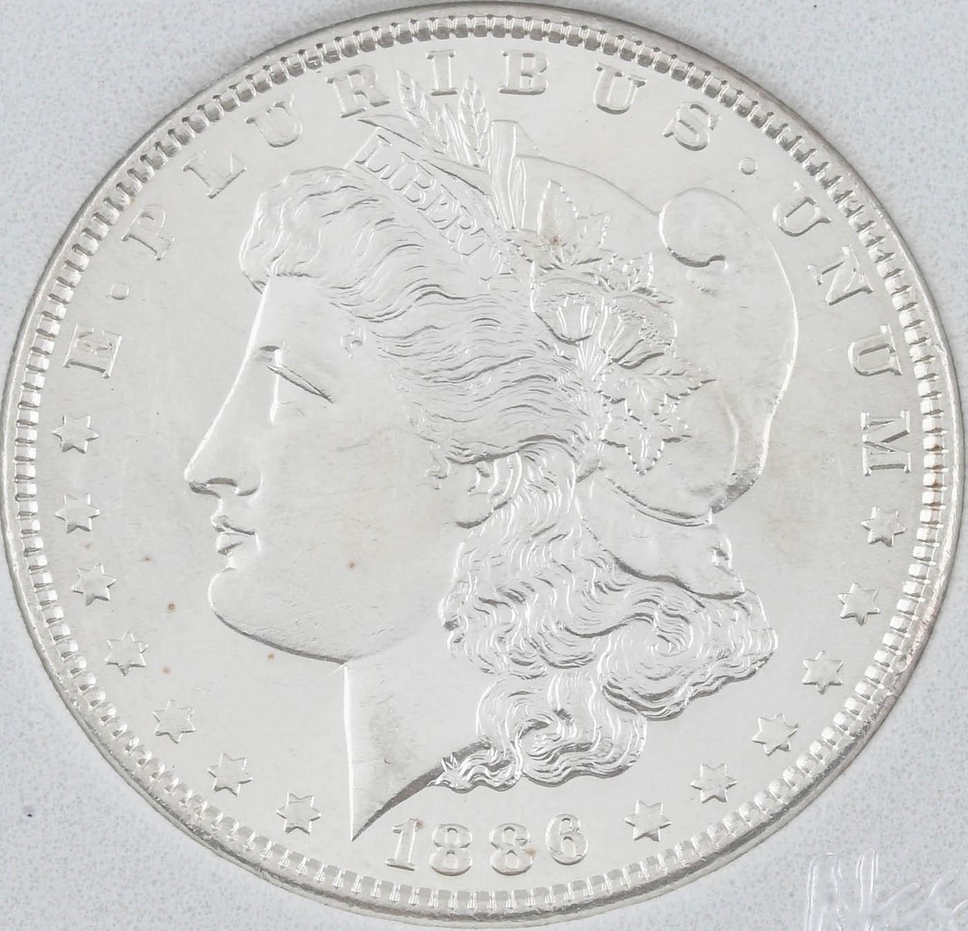 1886 Silver Morgan Dollar