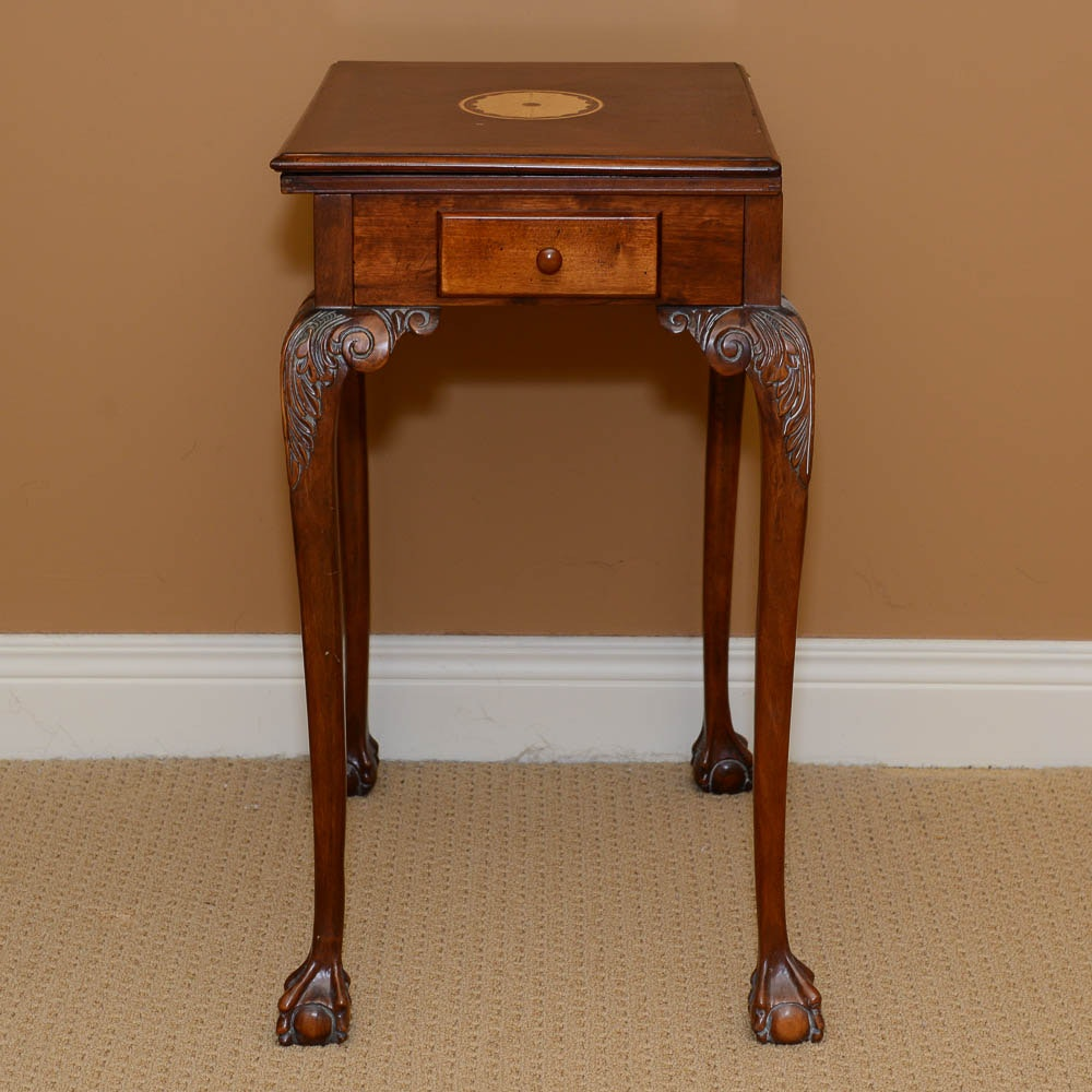 Chippendale Style Inlaid Game Table