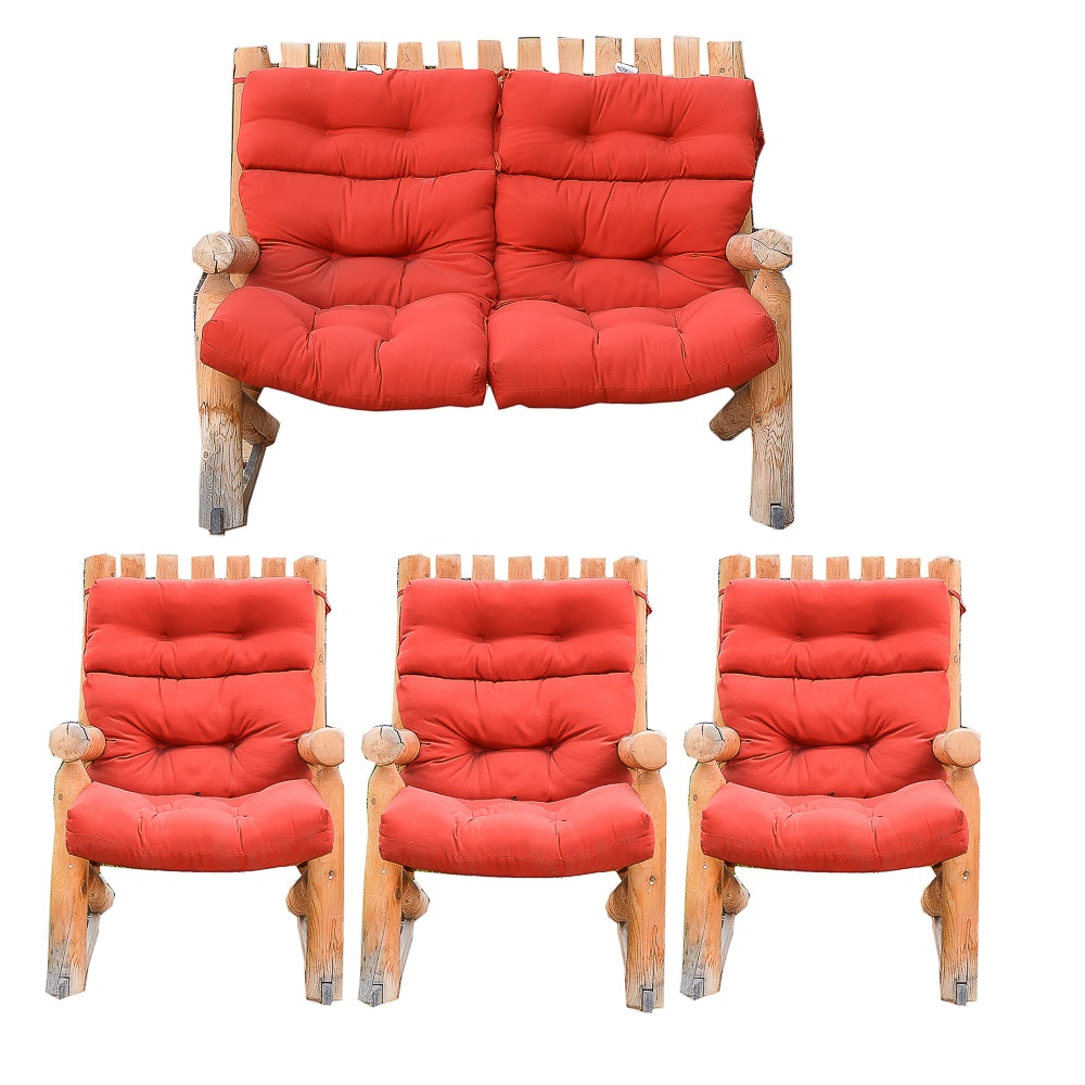 Outdoor Rocking Chair and Loveseat Set