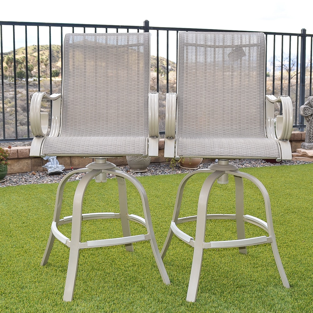Pair of Outdoor Counter Stools by Martha Stewart Living