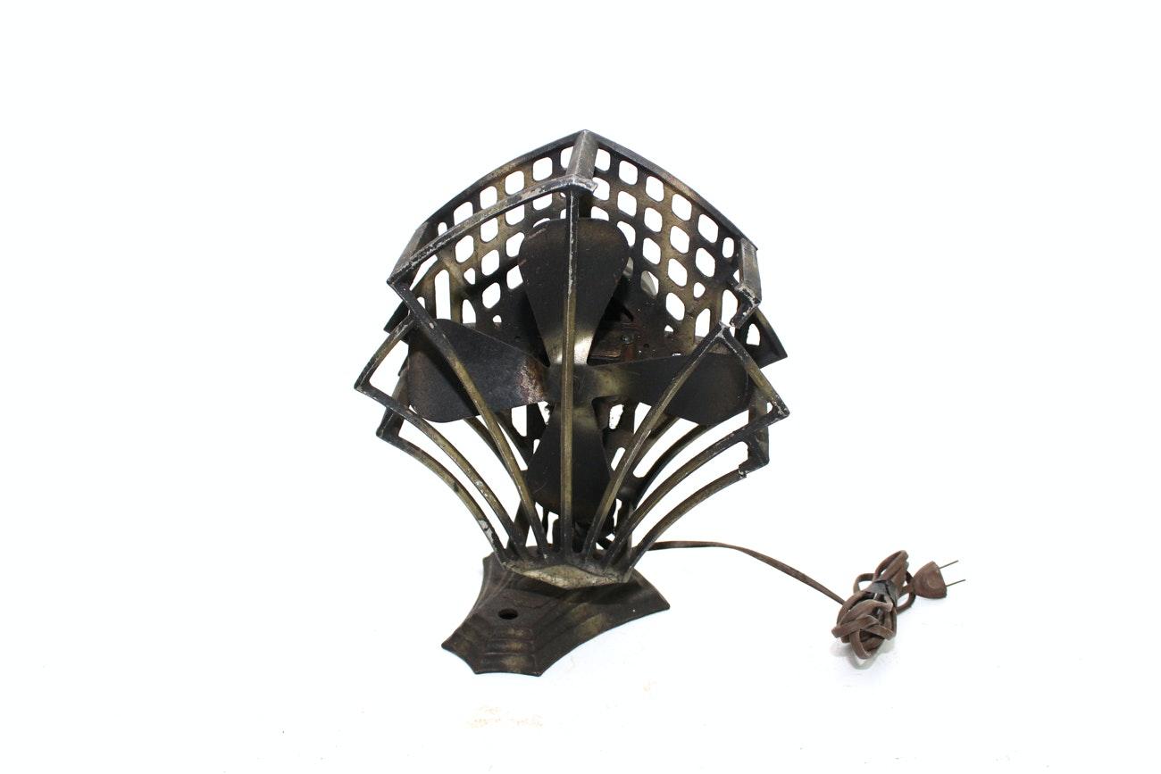 Art Deco Metal Table Fan ...