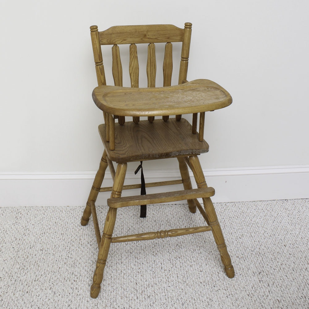 Charmant Mid Century Oak High Chair From Rochelle Furniture ...