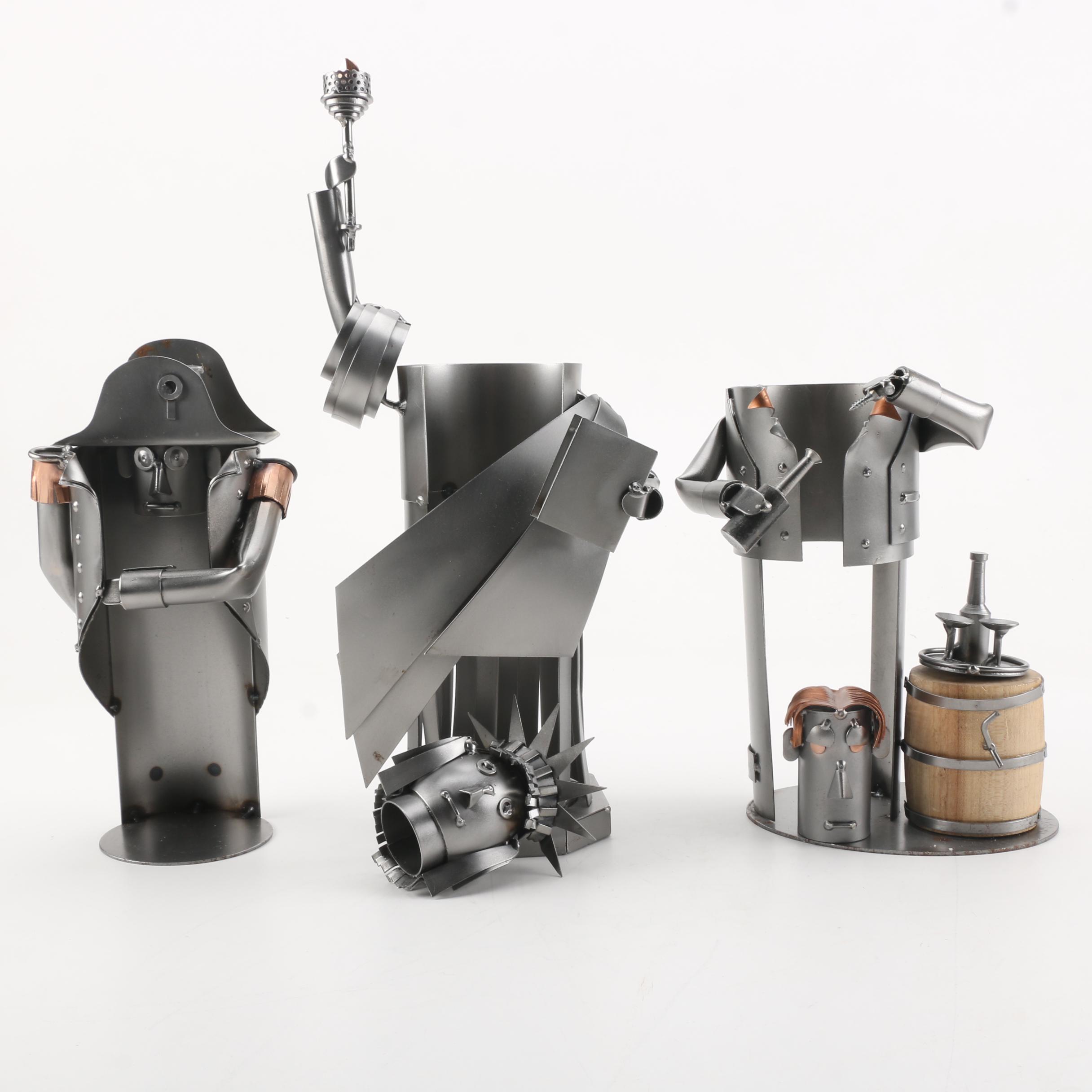 Hinz & Kunst Sculptural Metal Wine Bottle Holders