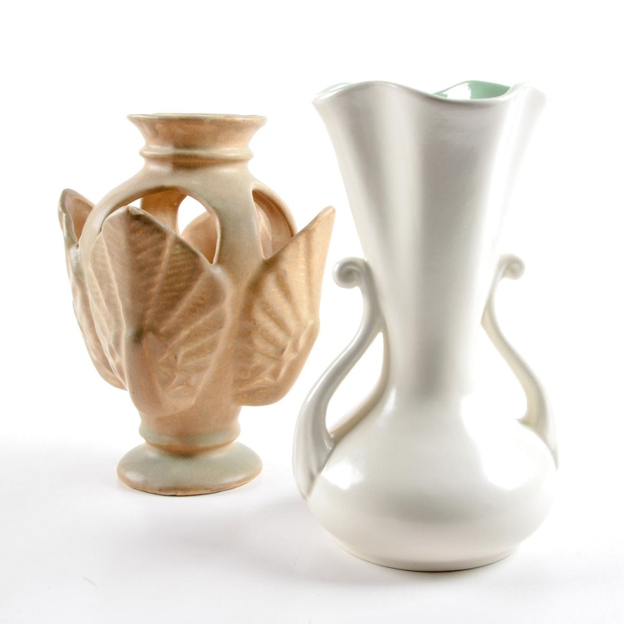 Niloak And Red Wing Pottery Vases Ebth