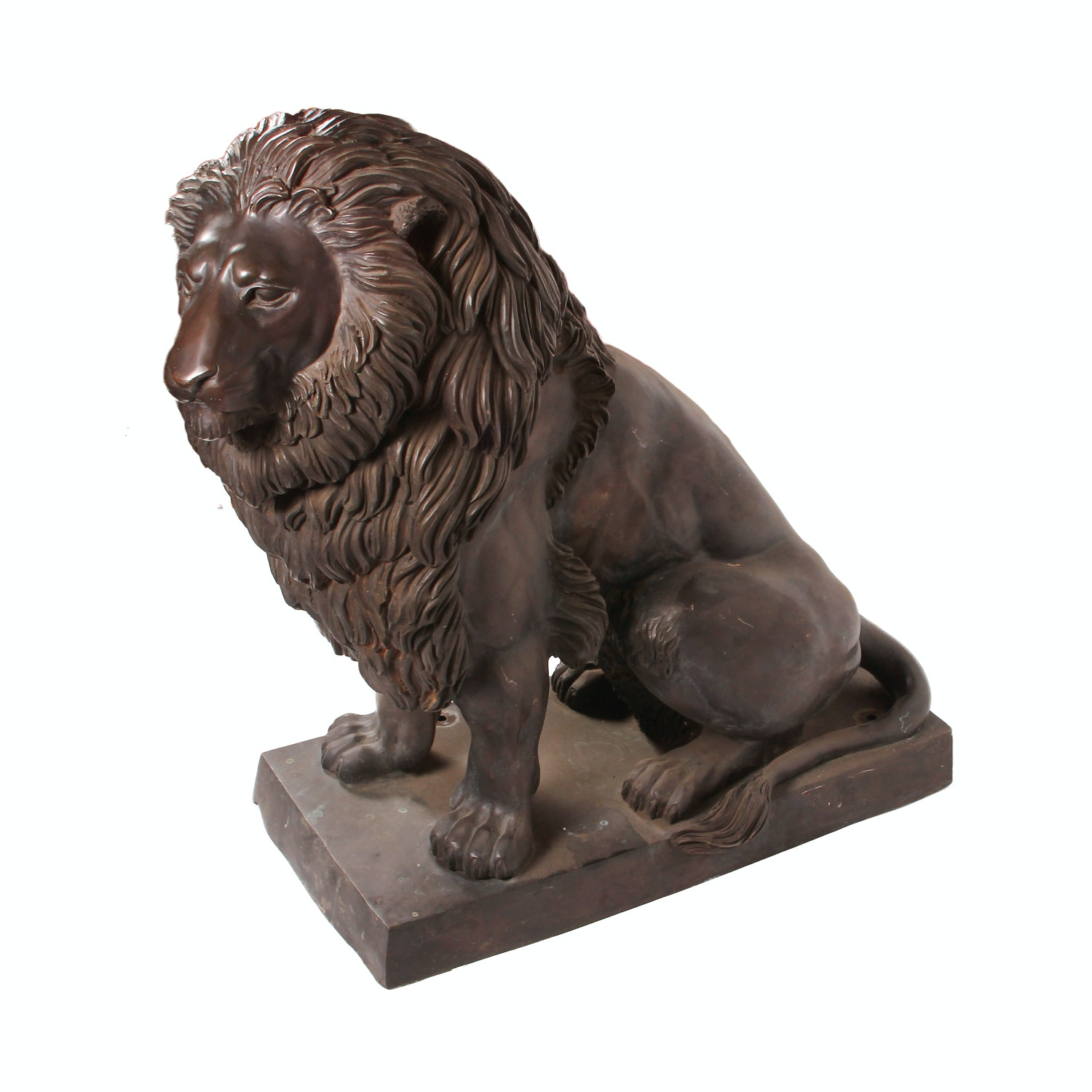 Large Outdoor Lion Statue Right Facing