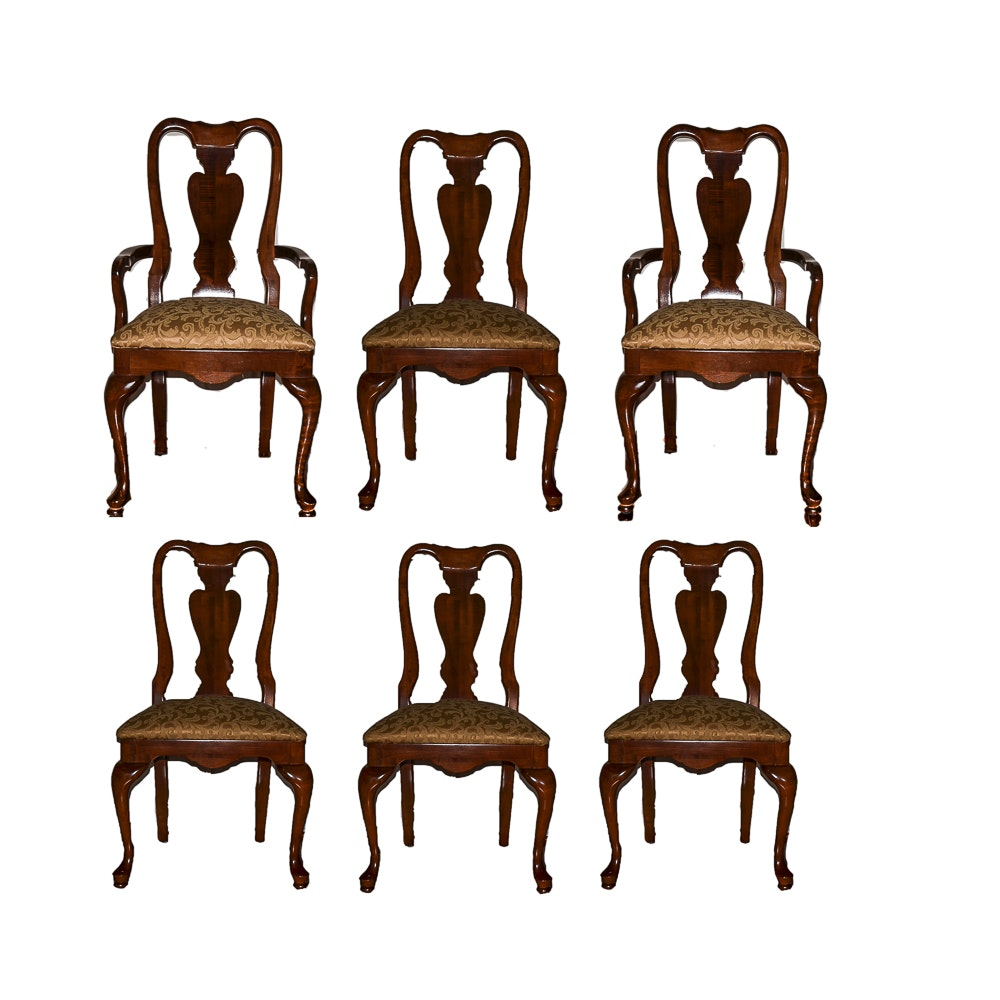 Set of Queen Anne Style Dining Chairs by American Drew