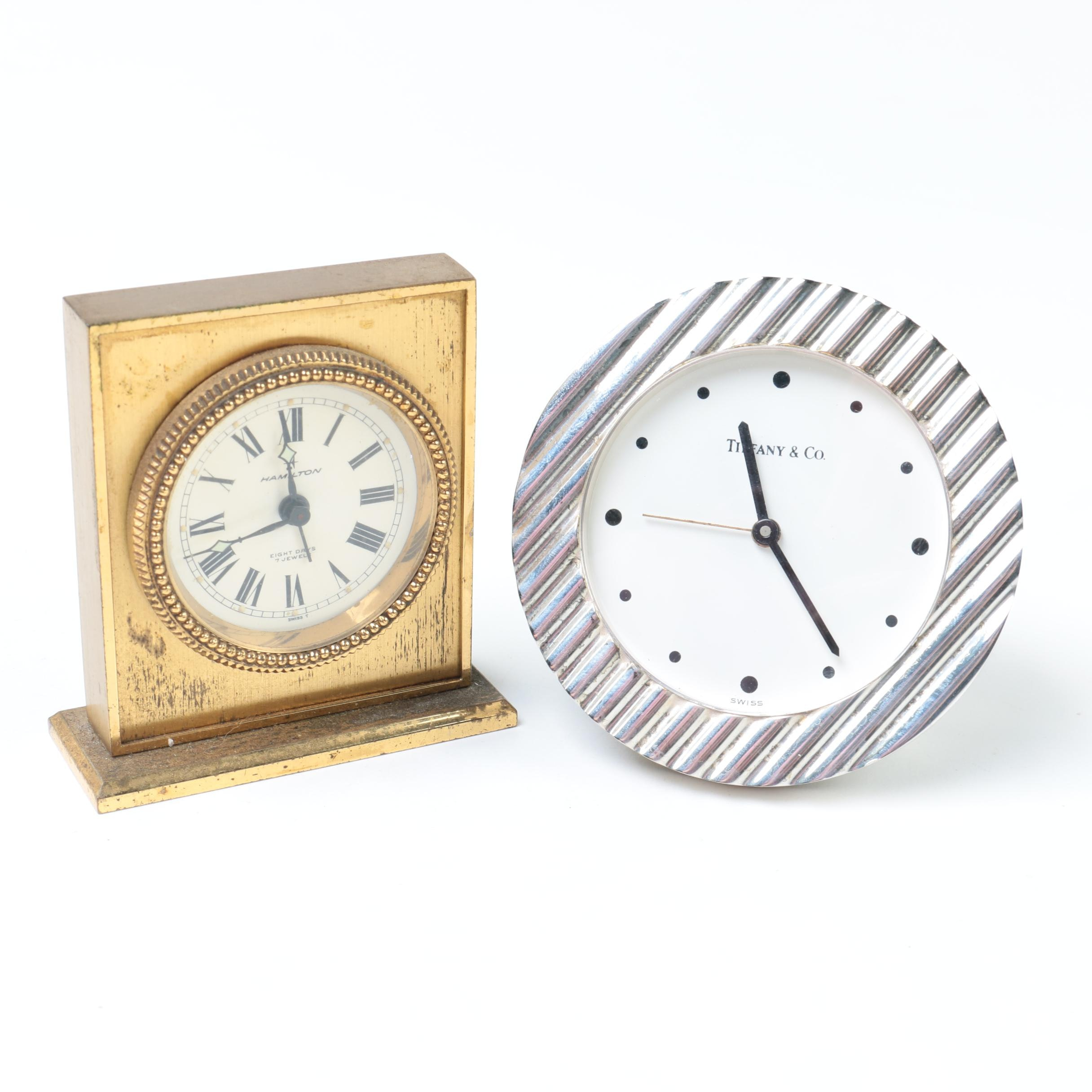 Alarm Clocks including Hamilton and Tiffany & Co.