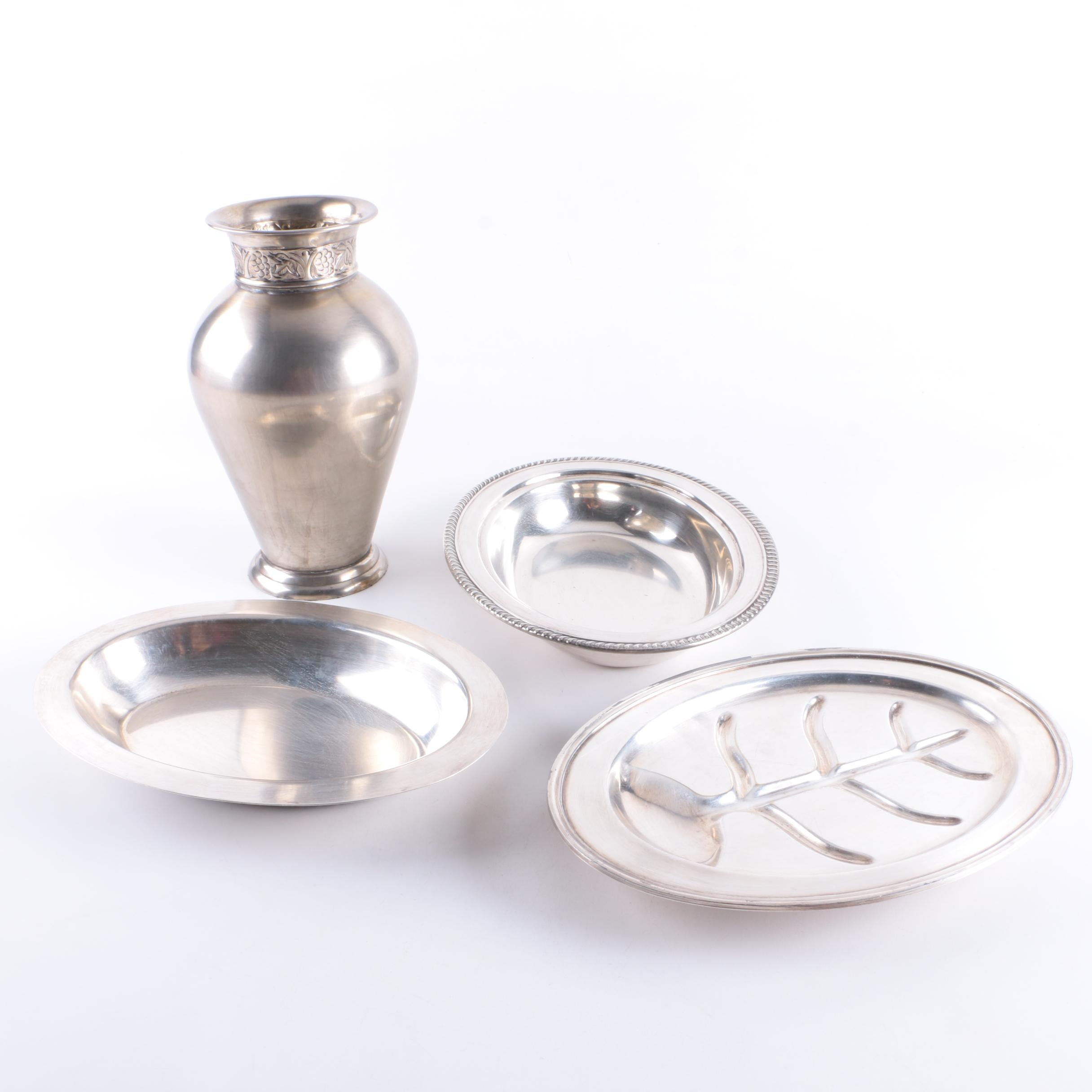 Silver Plate Serveware and Decor Featuring F.B. Rogers and Poole