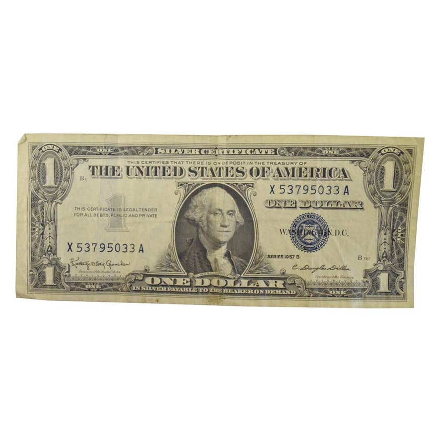 Series 1957-B One Dollar Silver Certificate : EBTH