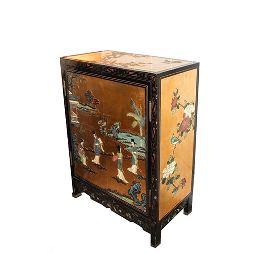 Chinese Small Gilt-Lacquered Cabinet