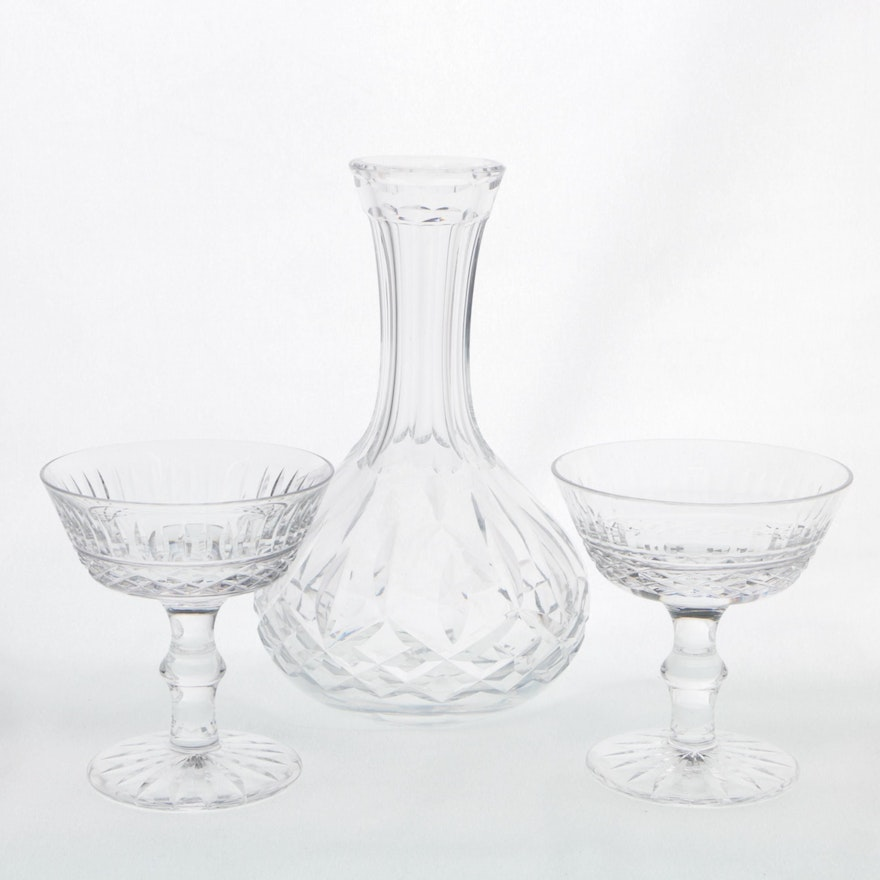 Waterford crystal tramore champagne coupes and carafe ebth - Waterford champagne coupe ...