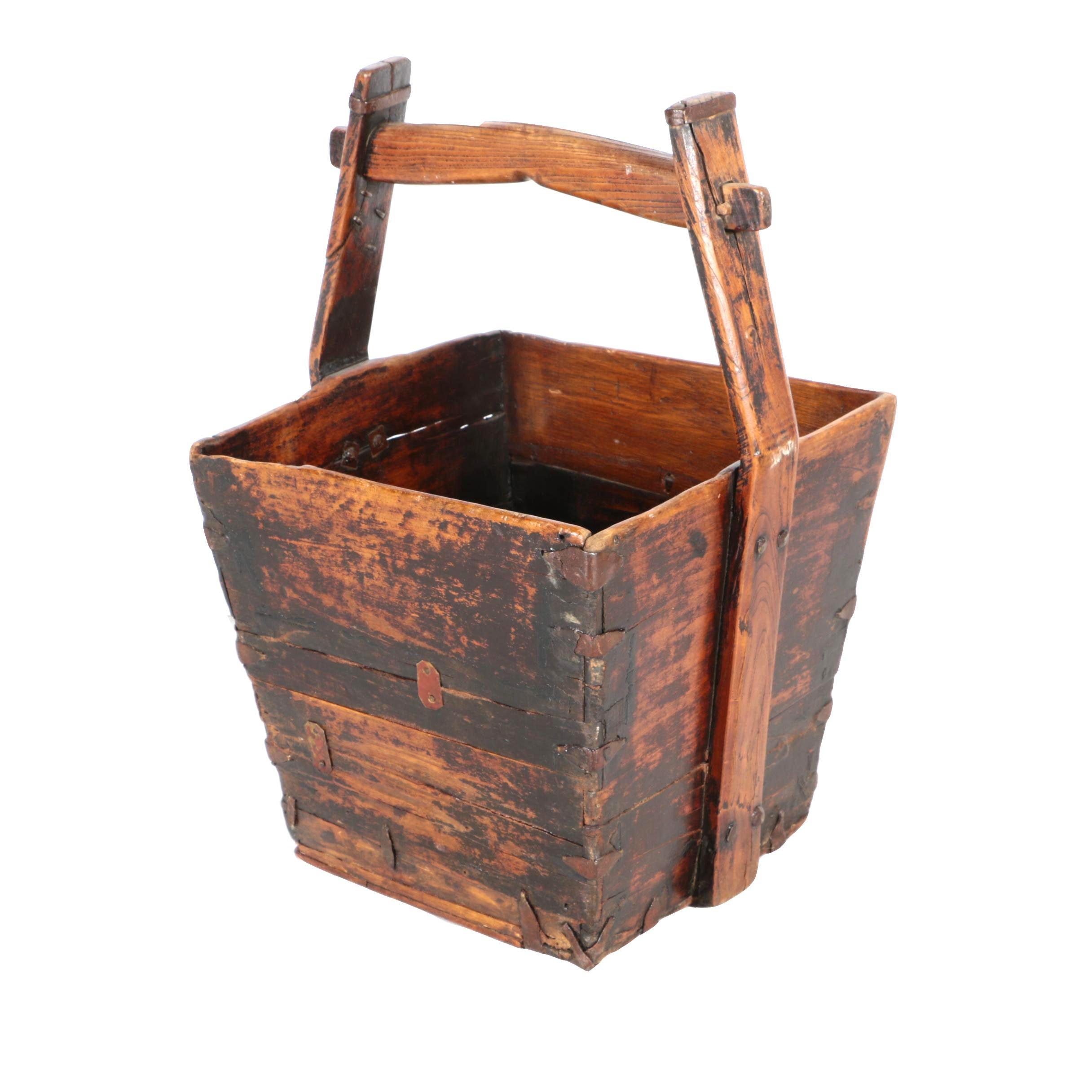 Wooden Bucket Planter