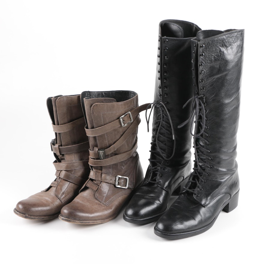 727a10a16d9 Women s Charles David and Wojas Leather Boots   EBTH