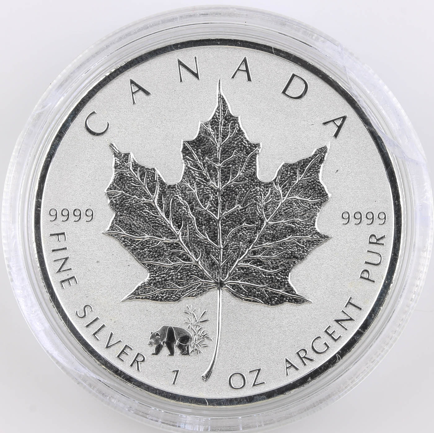 2017 Panda Canadian Silver Maple Leaf Five Dollar Coin