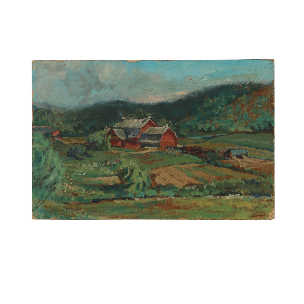 20th Century Oil Painting on Board