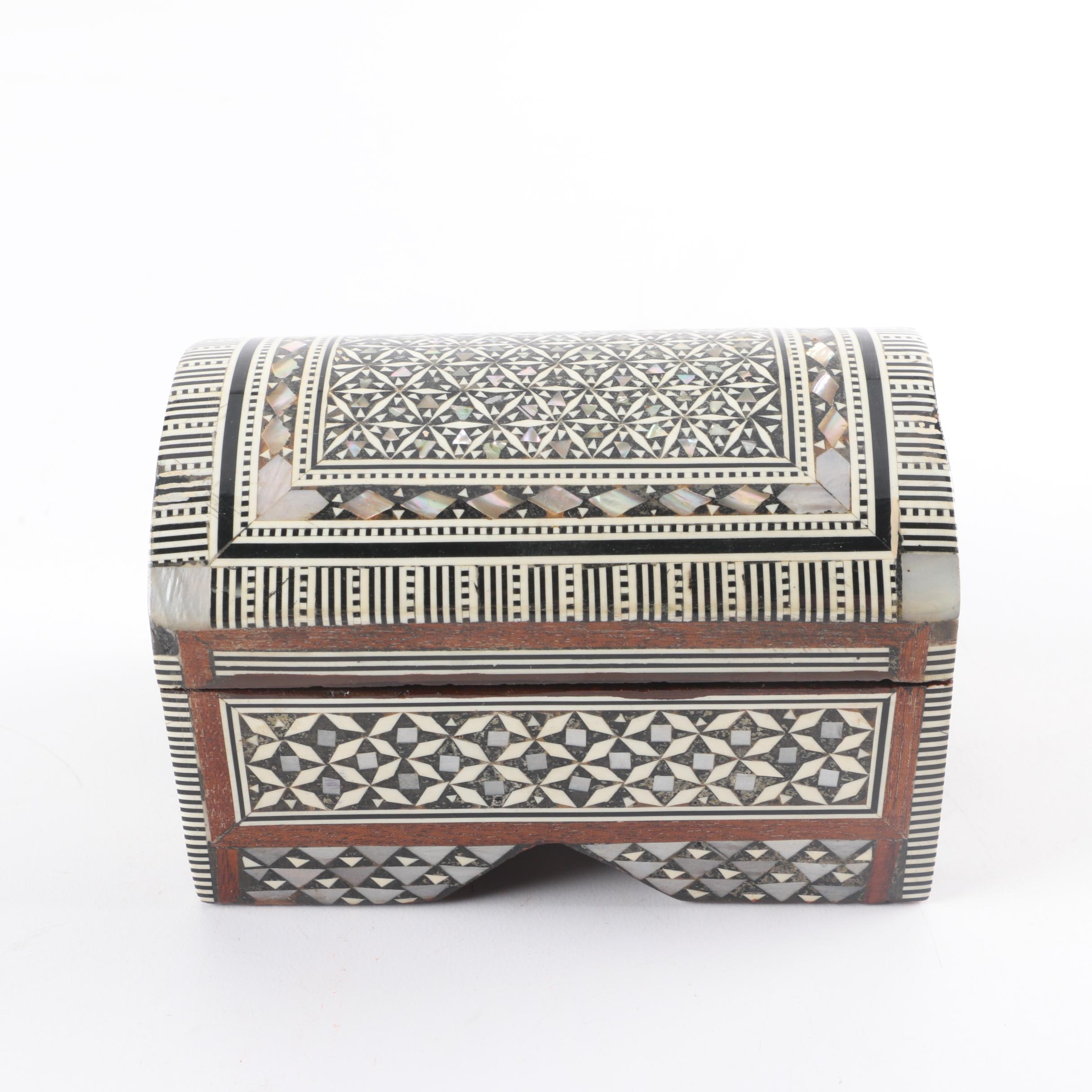 Mother-of-Pearl Inlay Trinket Box