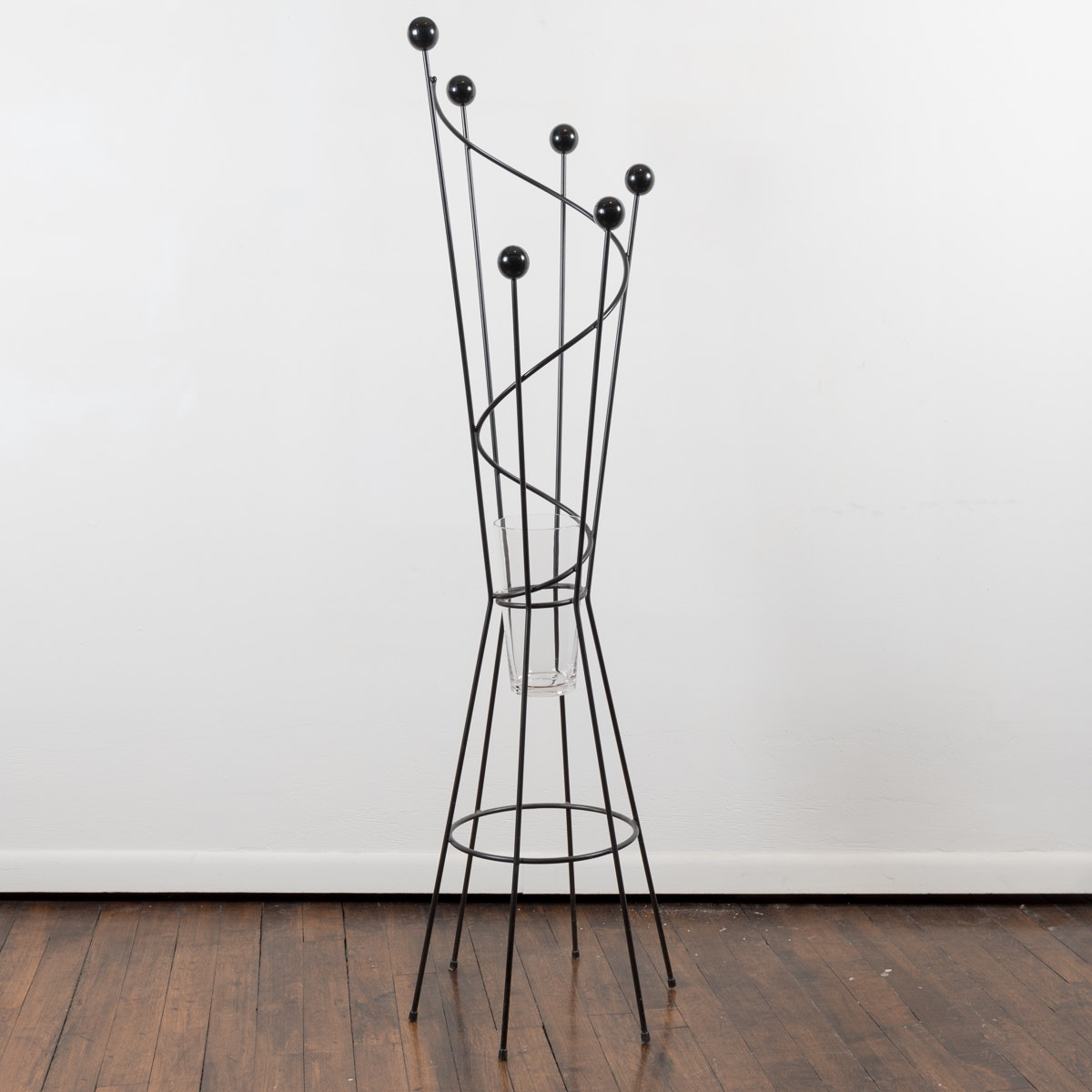 Contemporary Modernist Wrought Iron Coat Tree