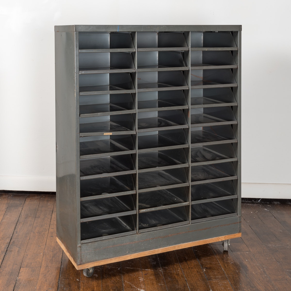 Vintage Metal Office Sorting Cabinet