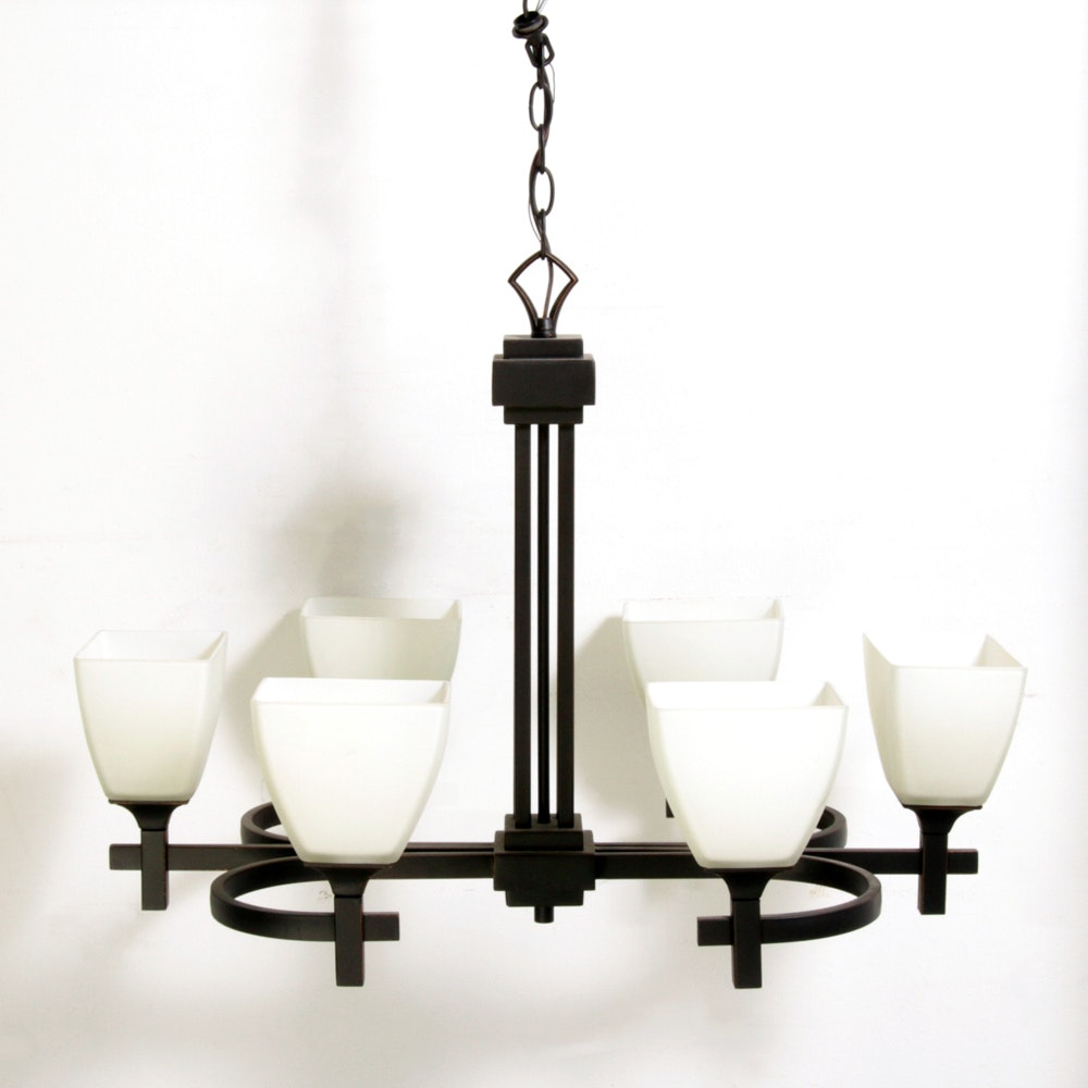 Contemporary Mission Style Chandelier