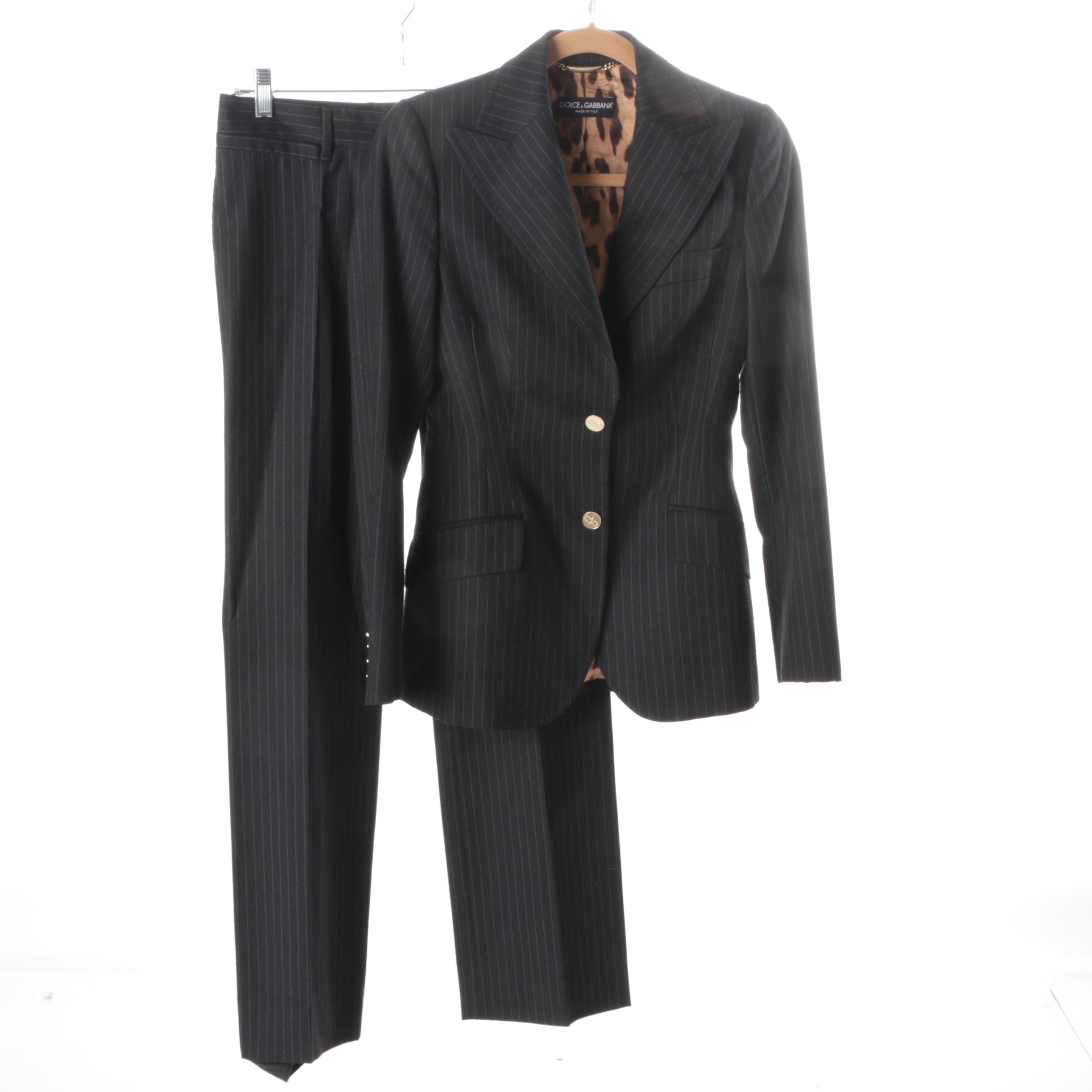 Women's pinstripe pant suits