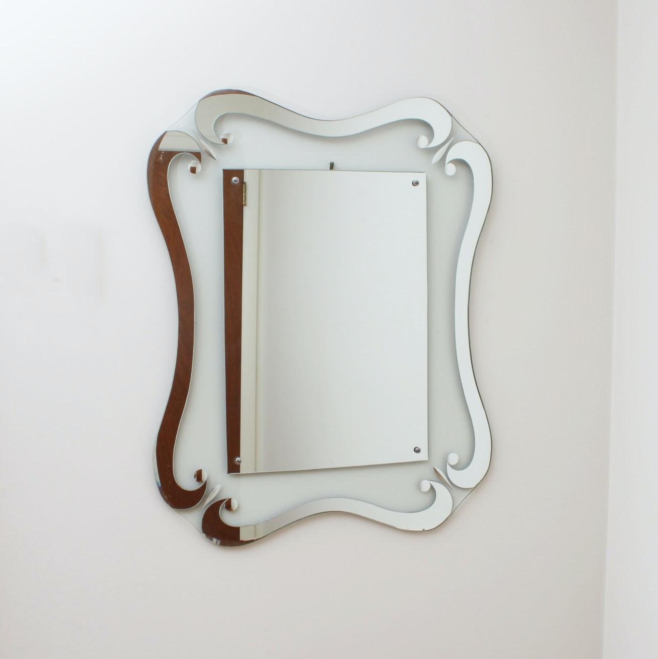 Art Nouveau Style Wall Mirror