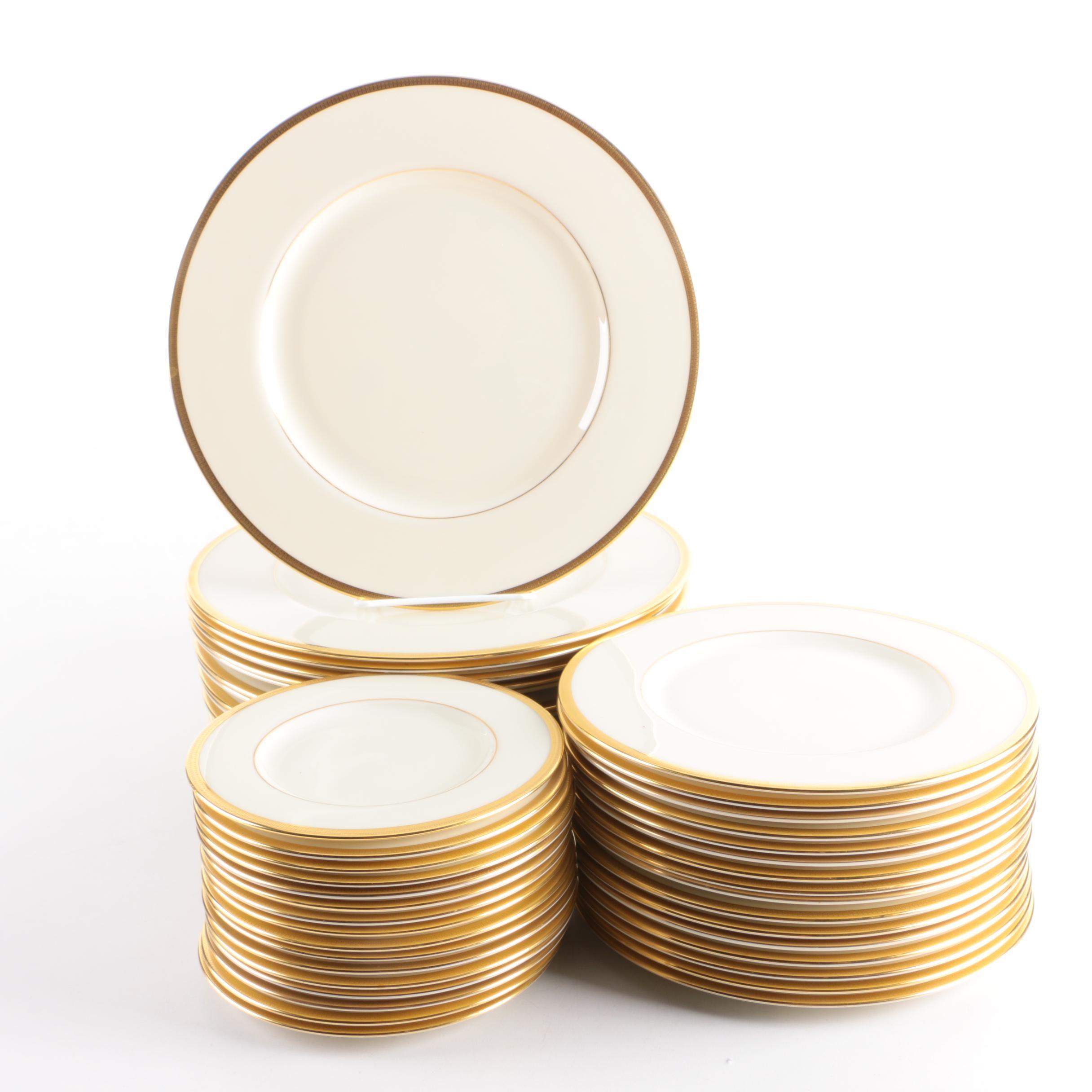 "Lenox ""Tuxedo"" Porcelain Plates"