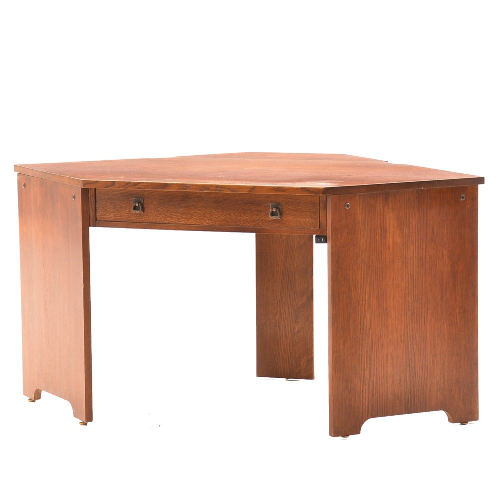 Signed Stickley Mission Collection Corner Desk