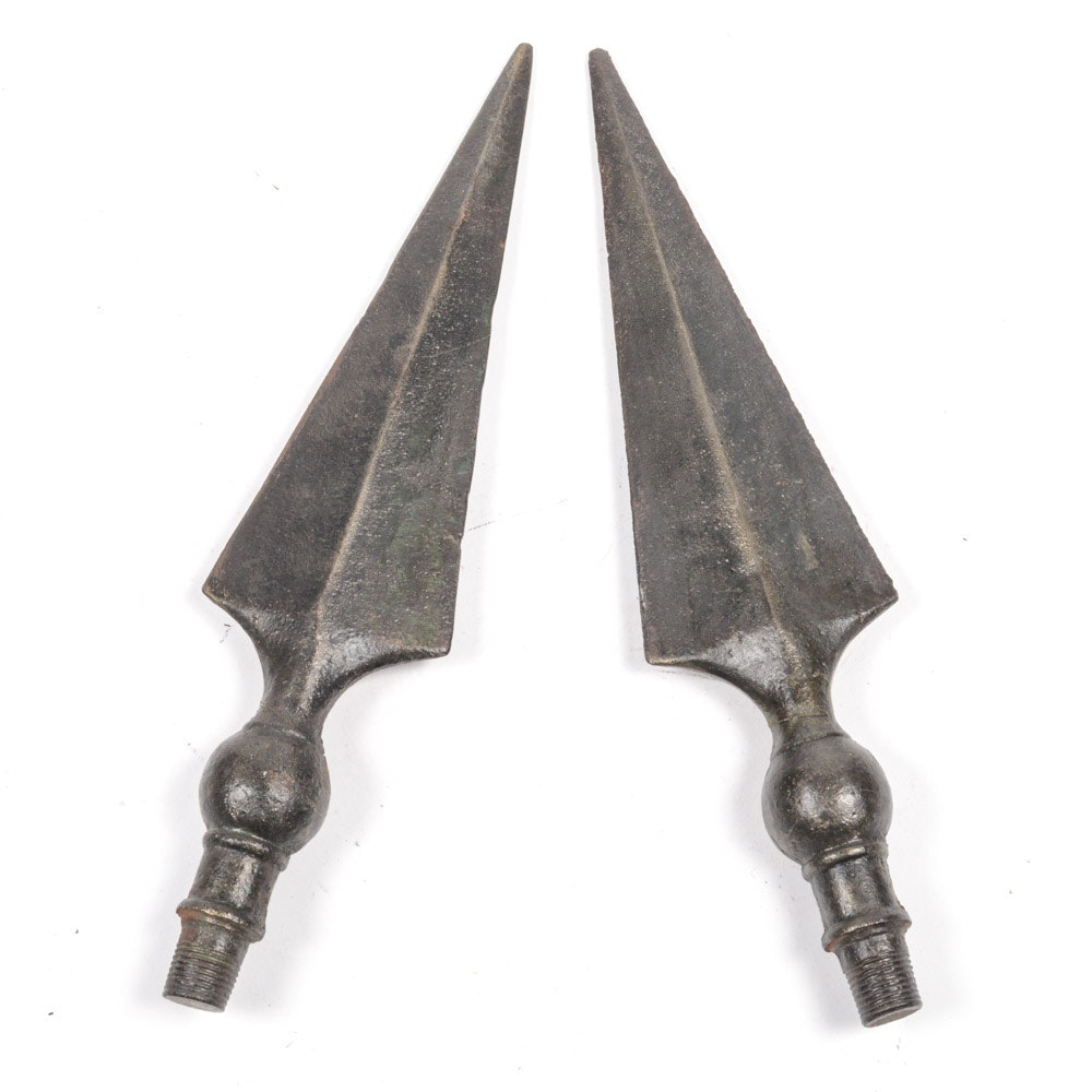 Vintage Spear Head Style Pike Ends