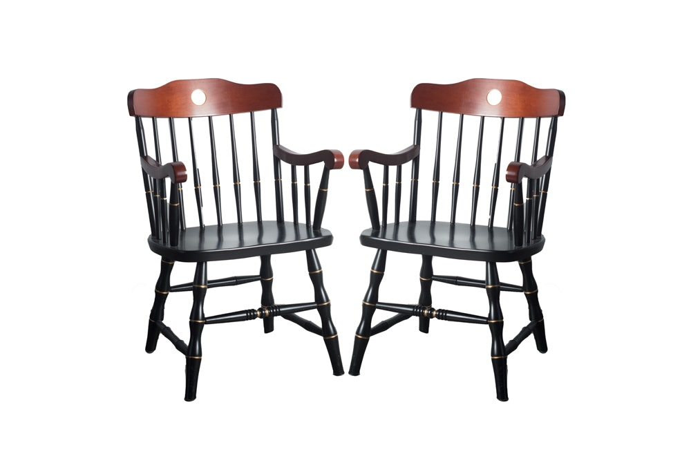 Pair of Yale University Armchairs