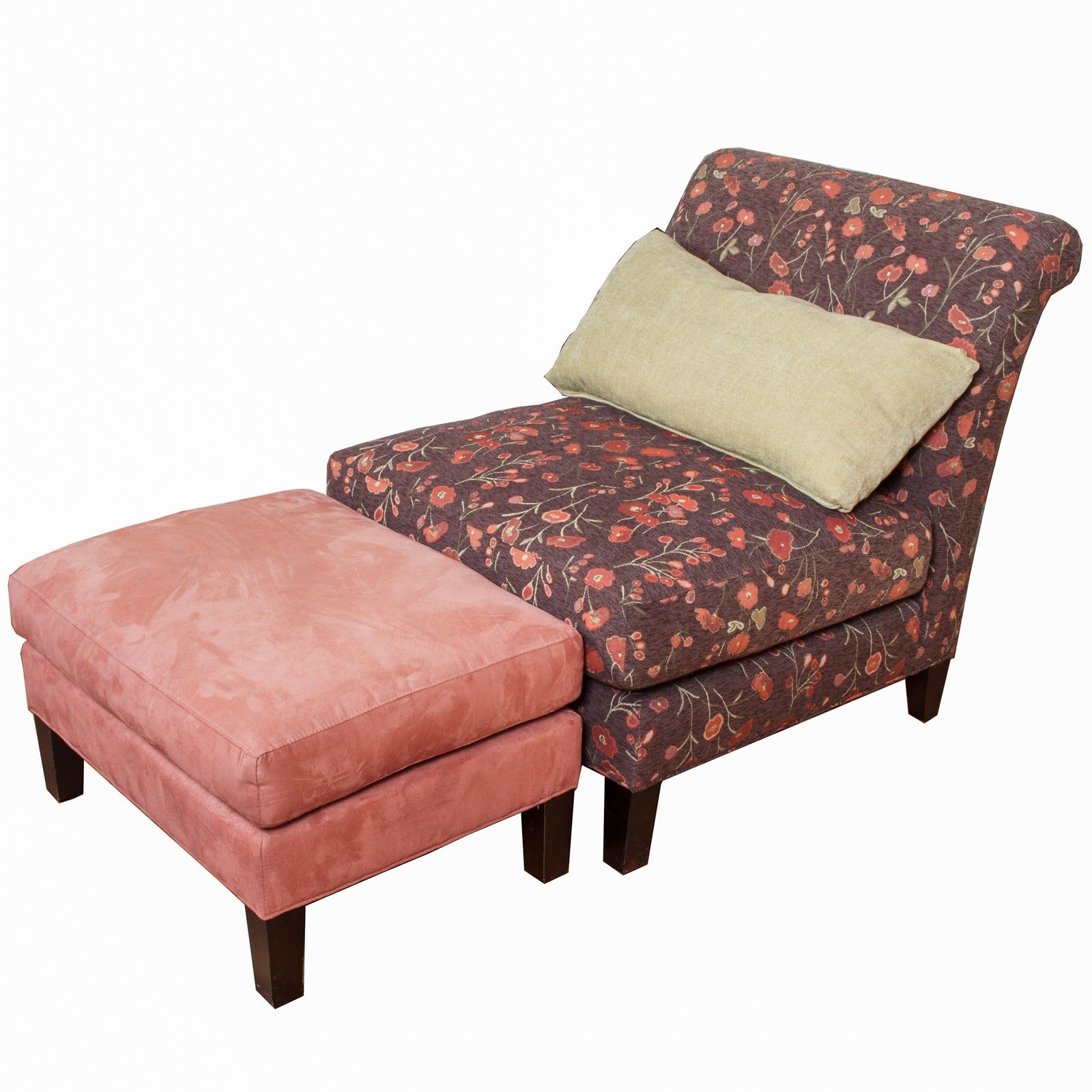 Floral Chair with Ottoman by Arhaus Furniture