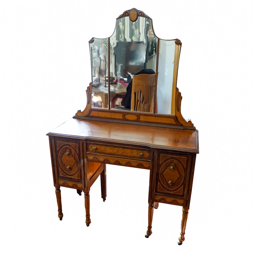 Antique Victorian 1930s Vanity Desk ... - Antique Victorian 1930s Vanity Desk : EBTH