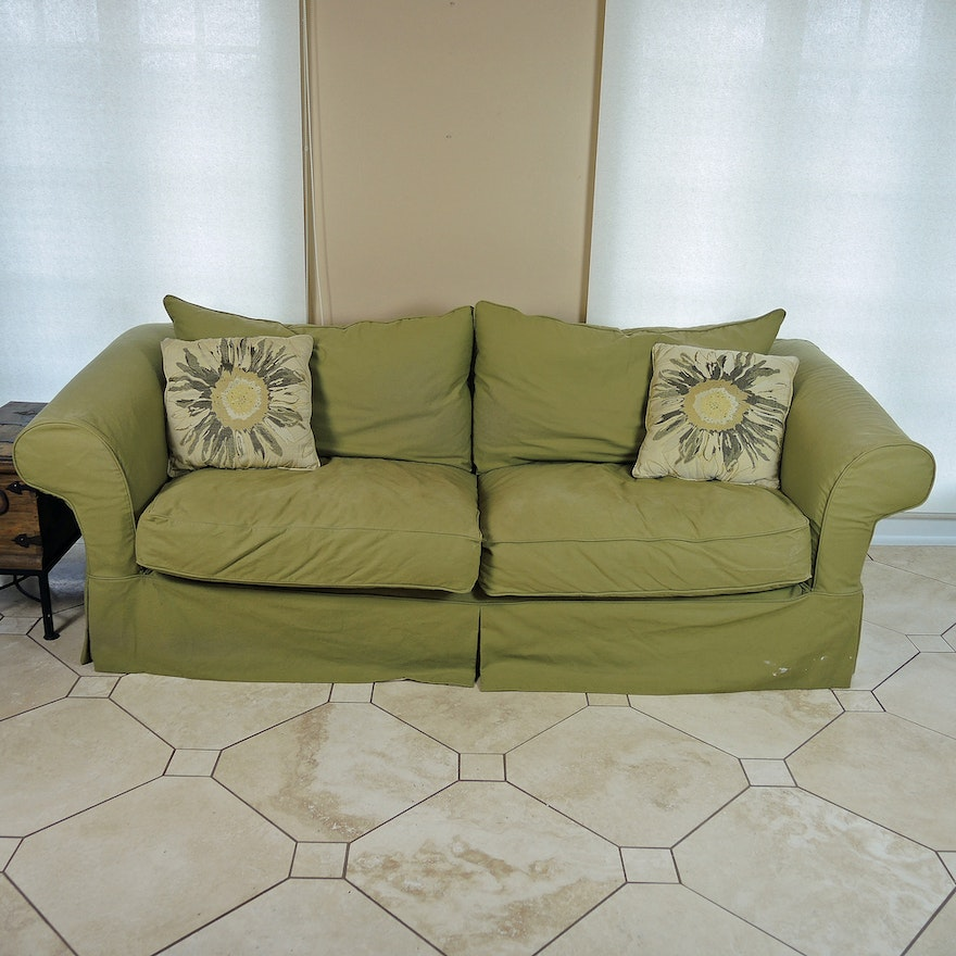Olive Green Sofa By Mccreary Modern