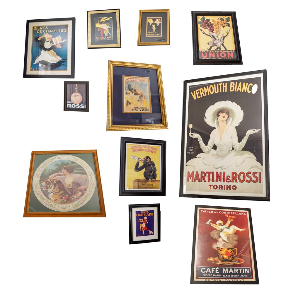 Offset Lithographs of Vintage Advertising Posters
