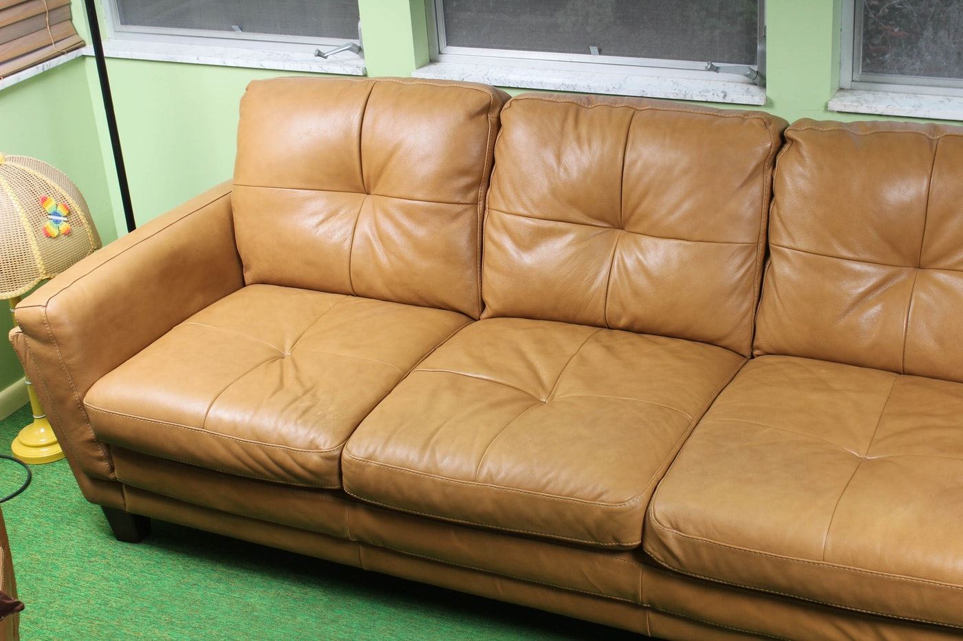 Italian Leather Sofa By Soft Line S.P.A.