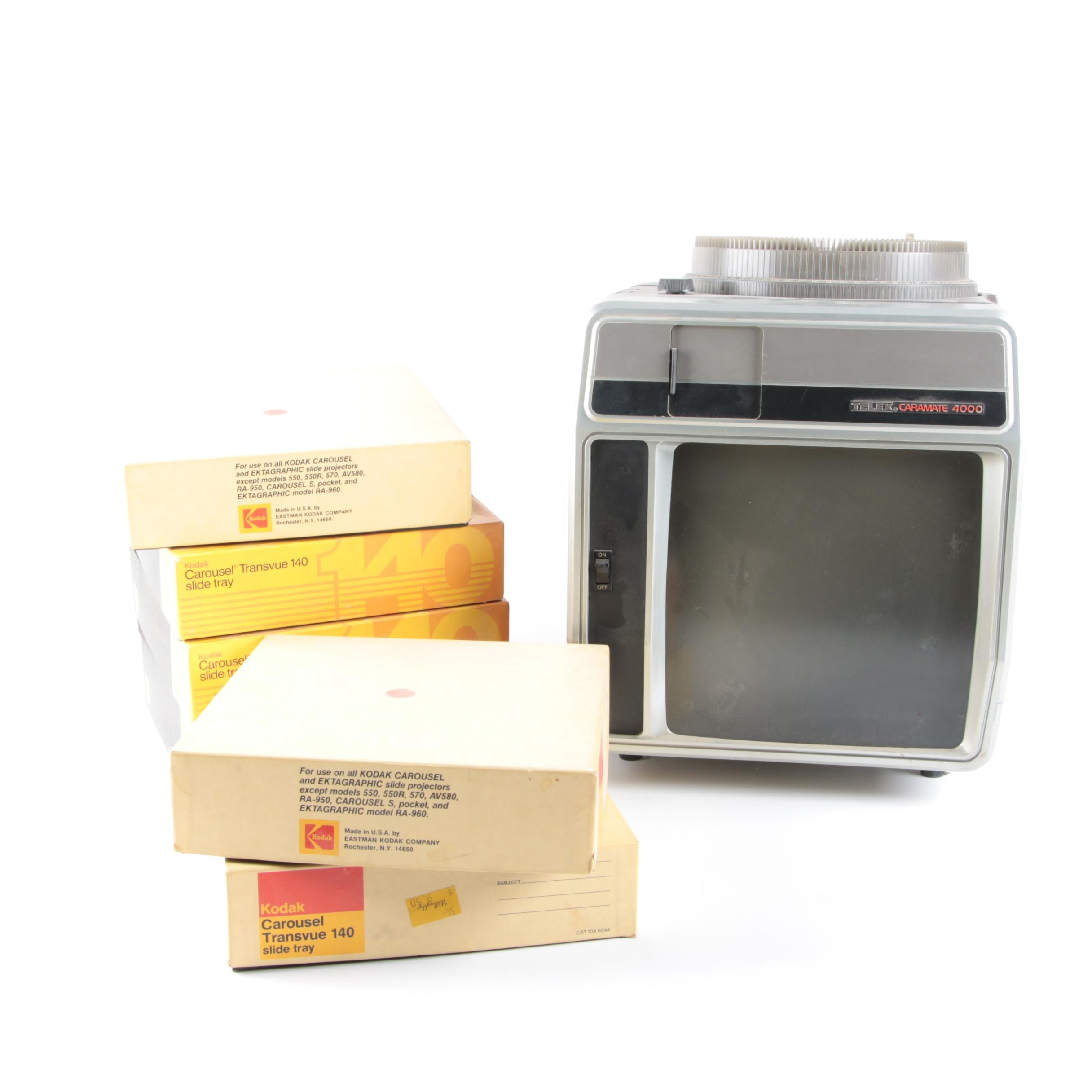 Telex Caramate 4000 Slide Projector with Slide Carousels