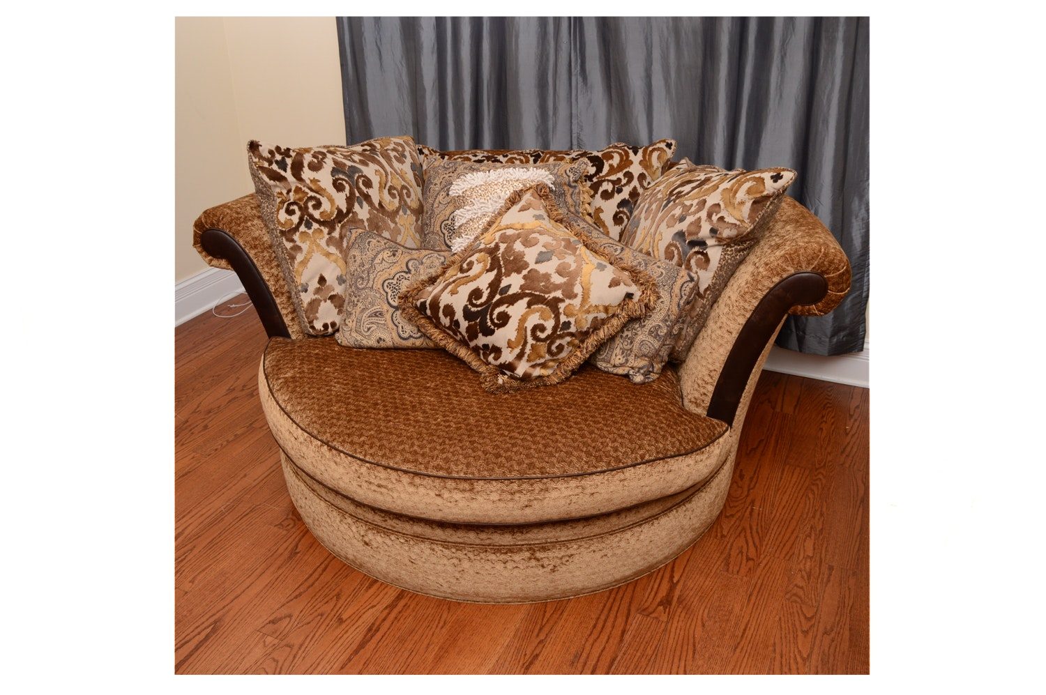 Massoud Oversized Upholstered Chair With Pillows ...