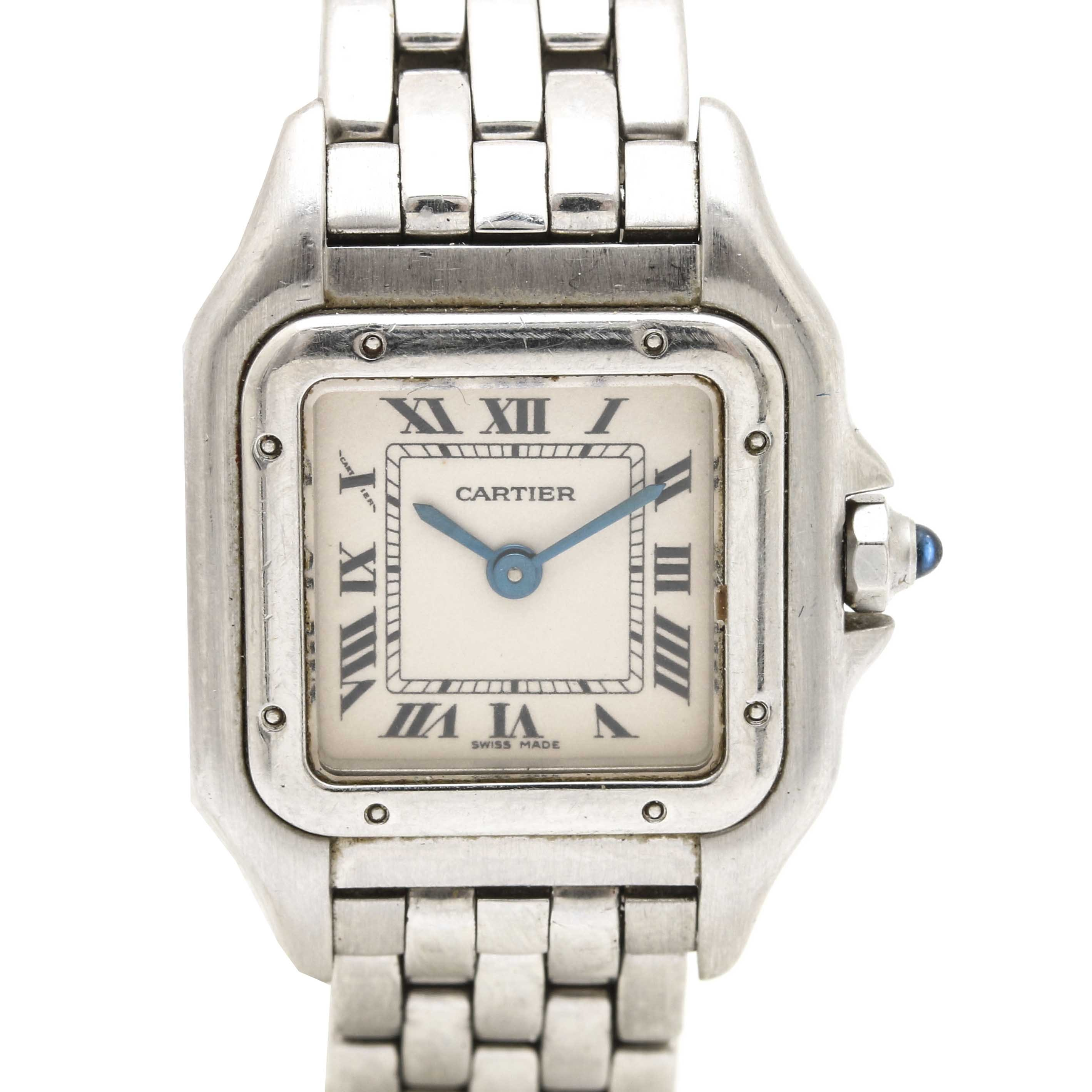 Cartier Stainless Steel Analog Wristwatch