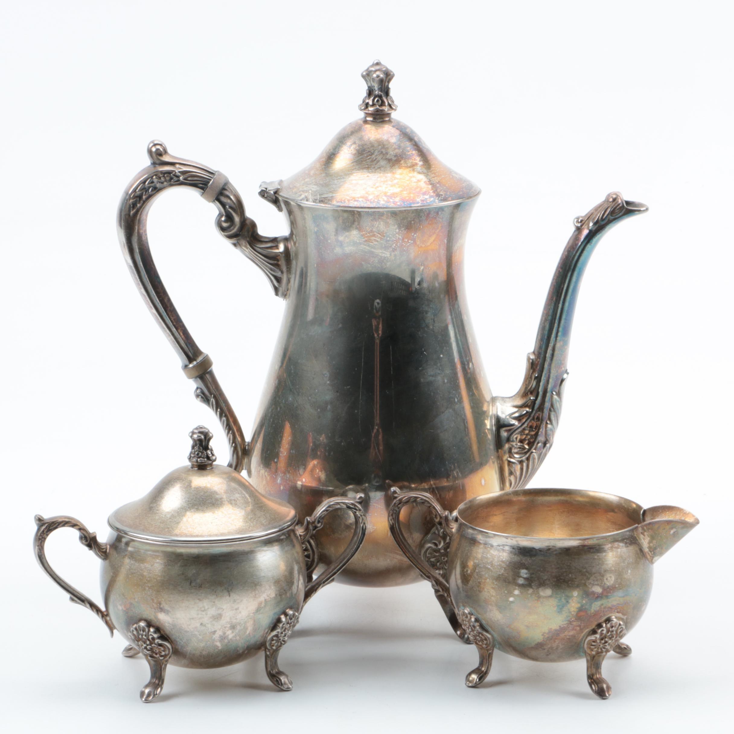 Vintage Leonard Silver Plate Coffee Set ... & Vintage Leonard Silver Plate Coffee Set : EBTH