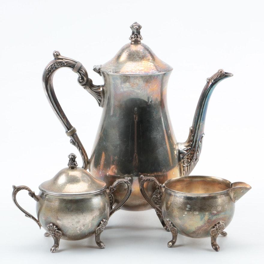 Vintage Leonard Silver Plate Coffee Set : EBTH