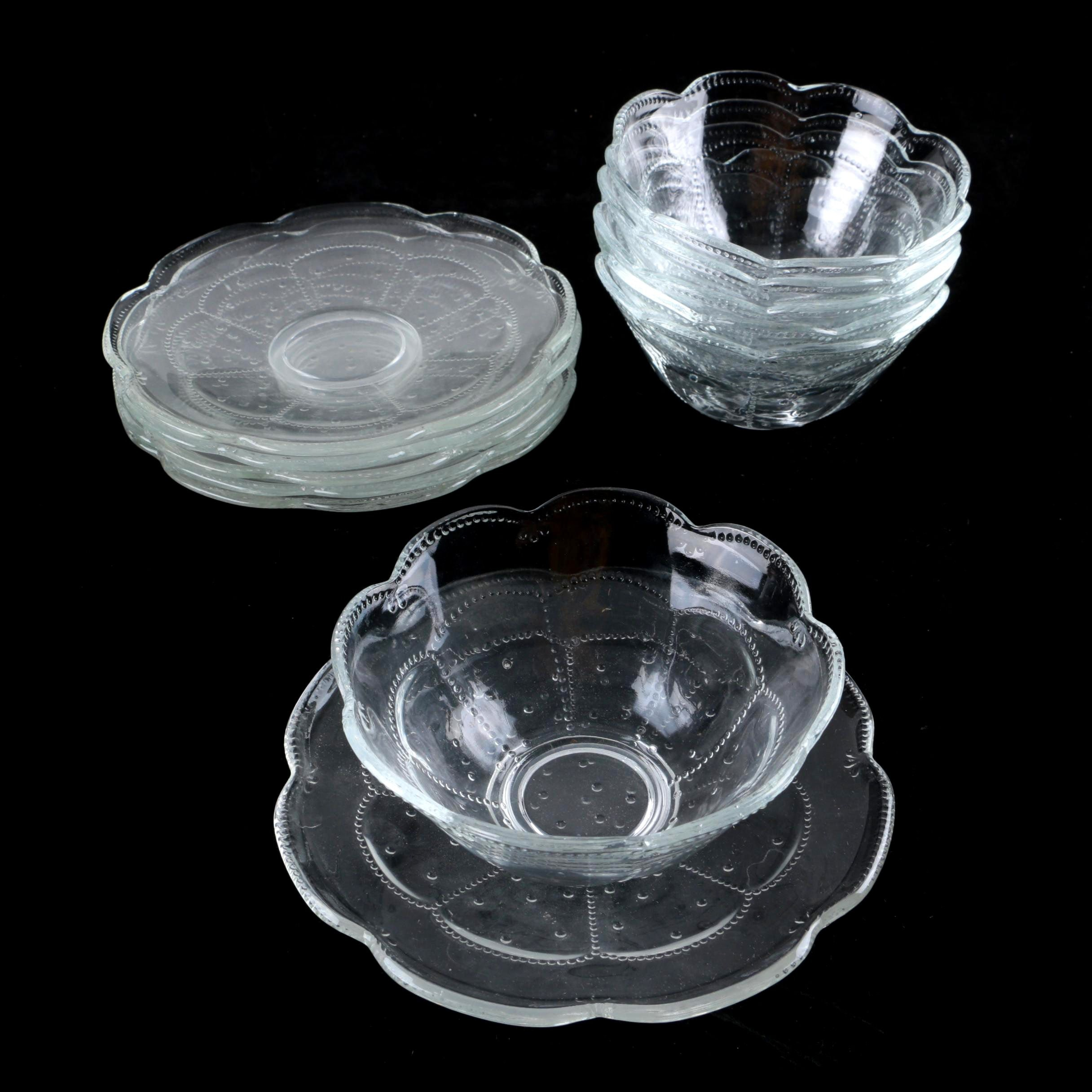 EAPG Glass Bowls and Saucers