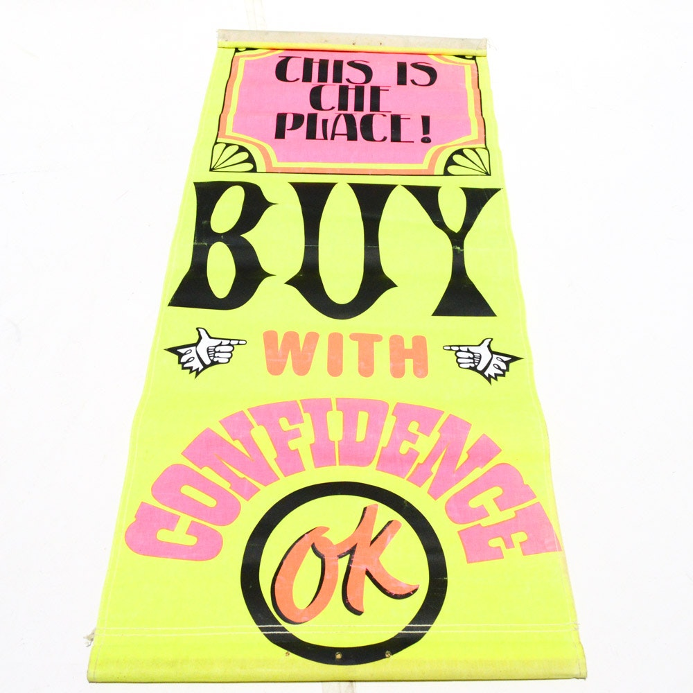 """Retail Advertising Sign """"Buy With Confidence"""""""