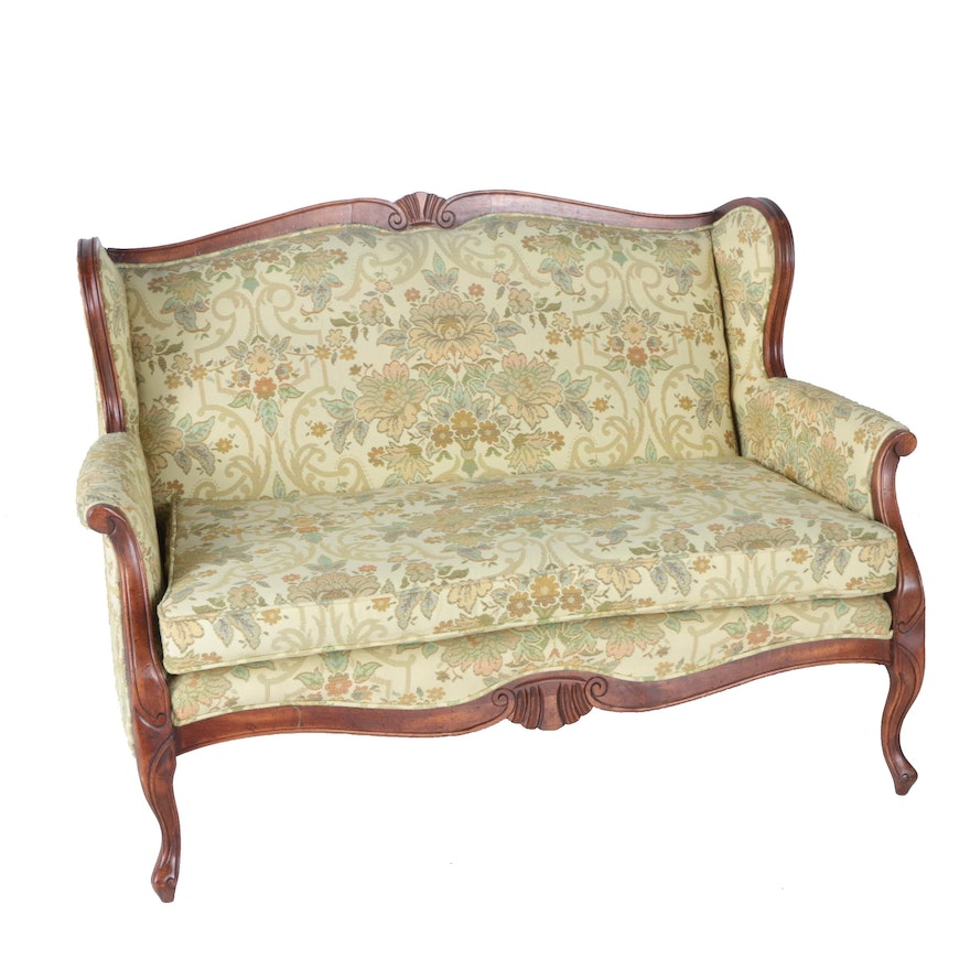 Furniture Industries Inc: Vintage Louis XV Style Settee By Sam Moore Furniture