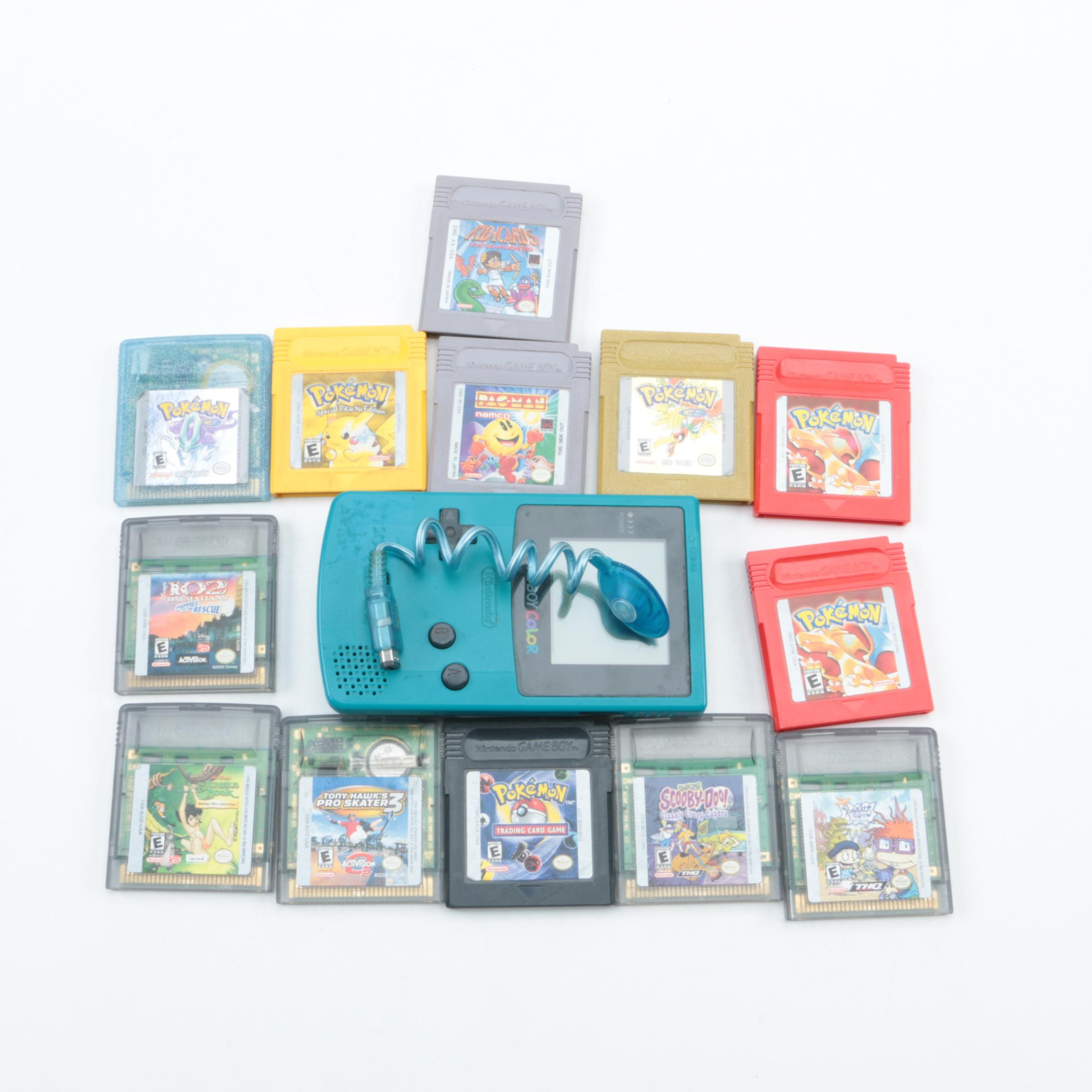 Game Boy Color Handheld Console and Games